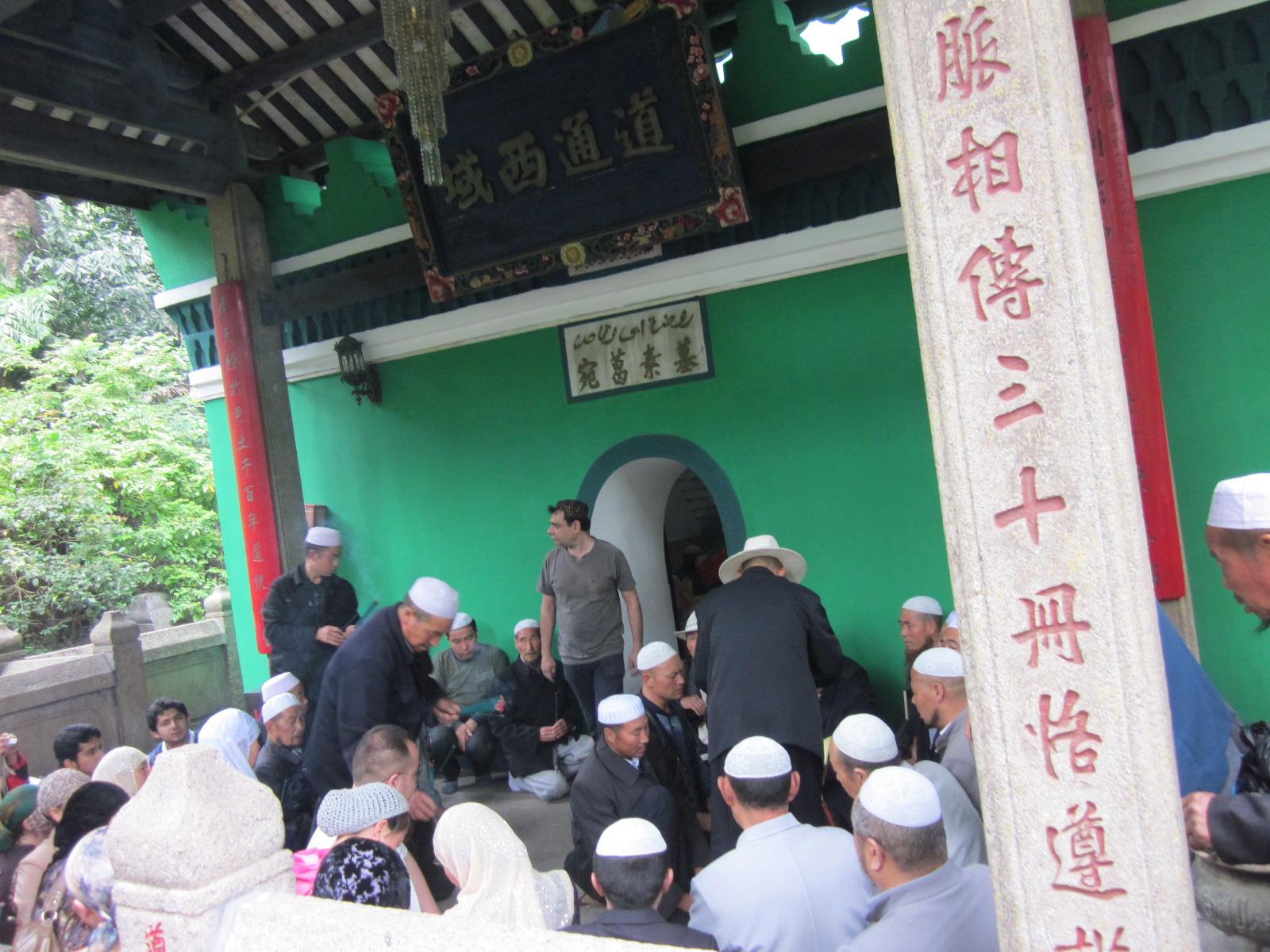 Musulmanes chinos de la etnia Hui, en Xinjiang