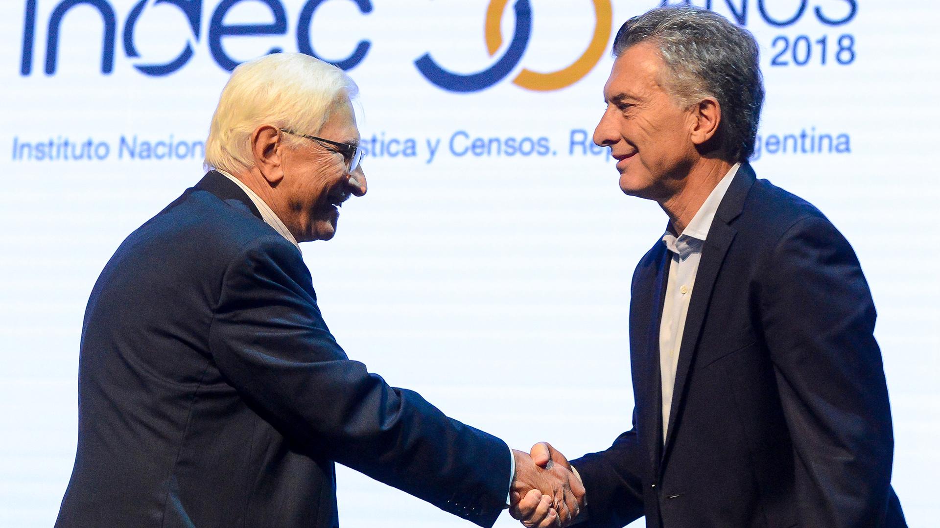 Mauricio Macri y Jorge Todesca (Presidencia)