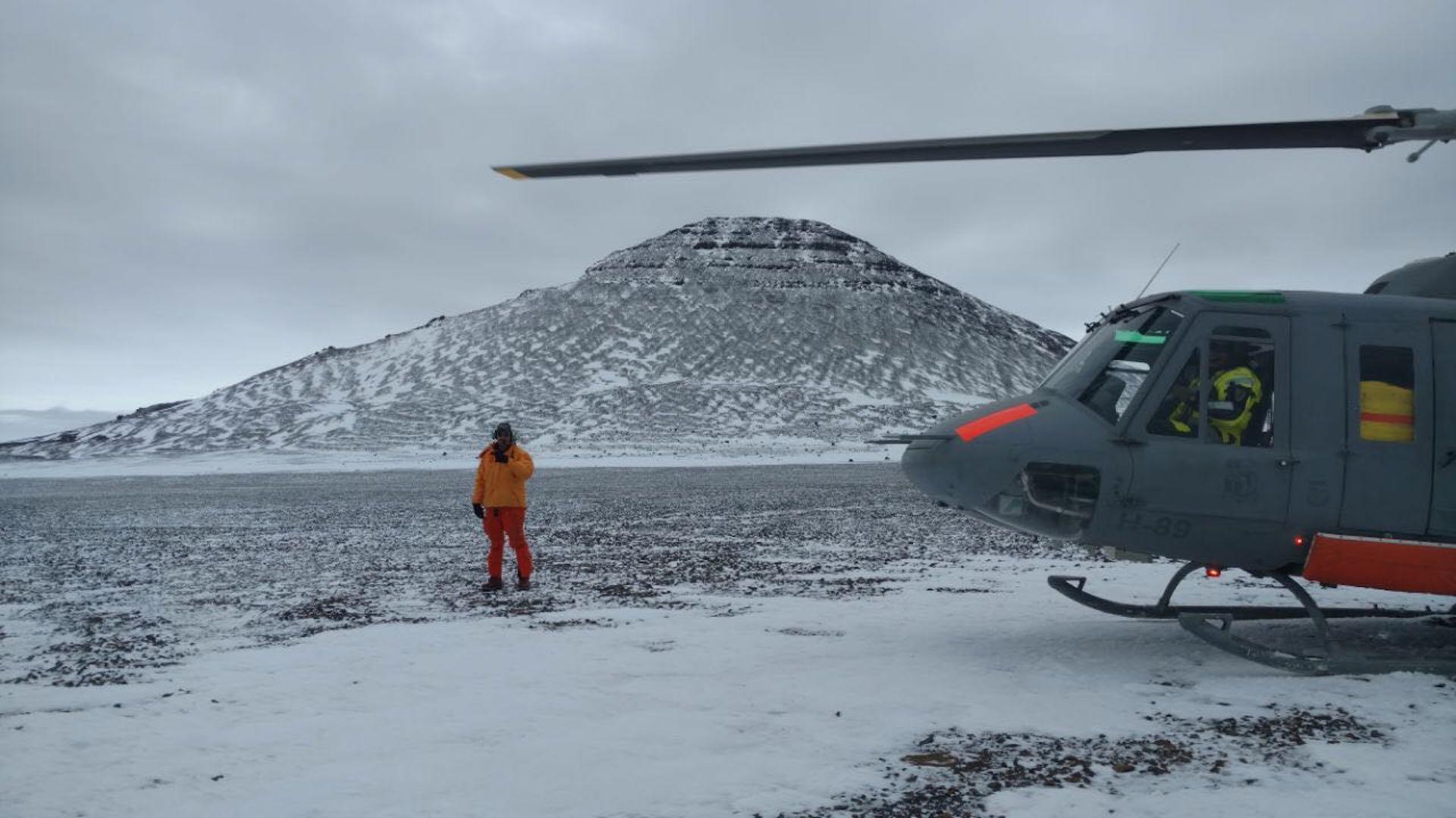 La imagen tomada por Alberto Cormillot en el Monte Cock Bird. (Foto gentileza A. Cormillot)