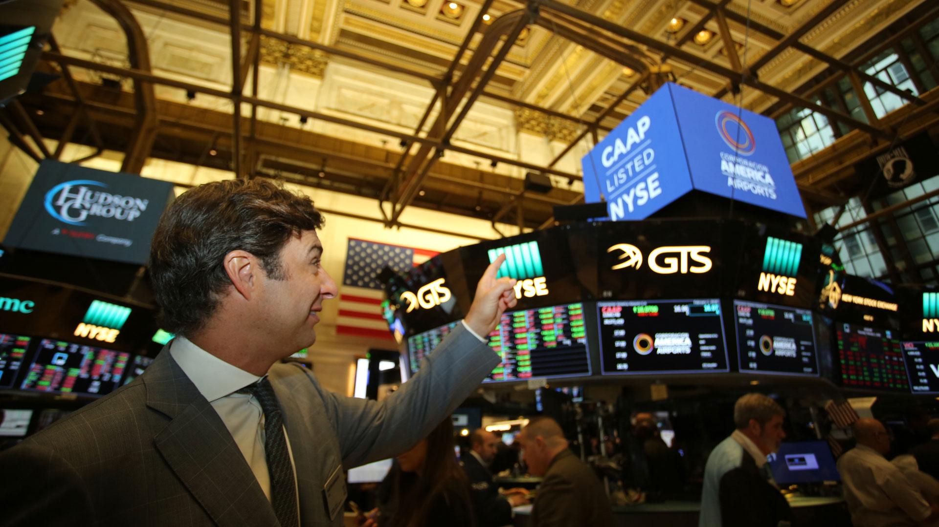 Corporación América debutó este jueves en Wall Street.