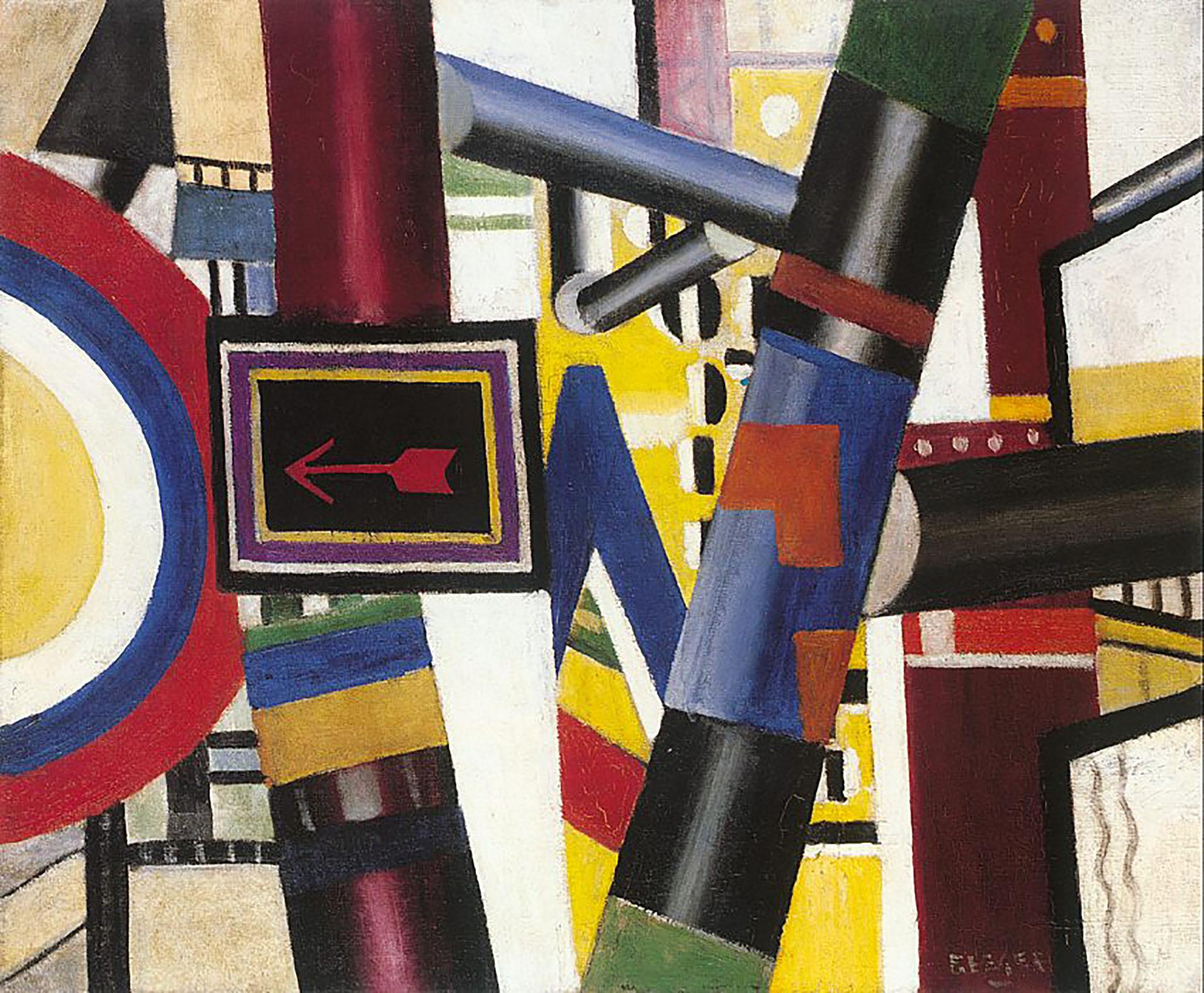 El cruce ferroviario(1919)
