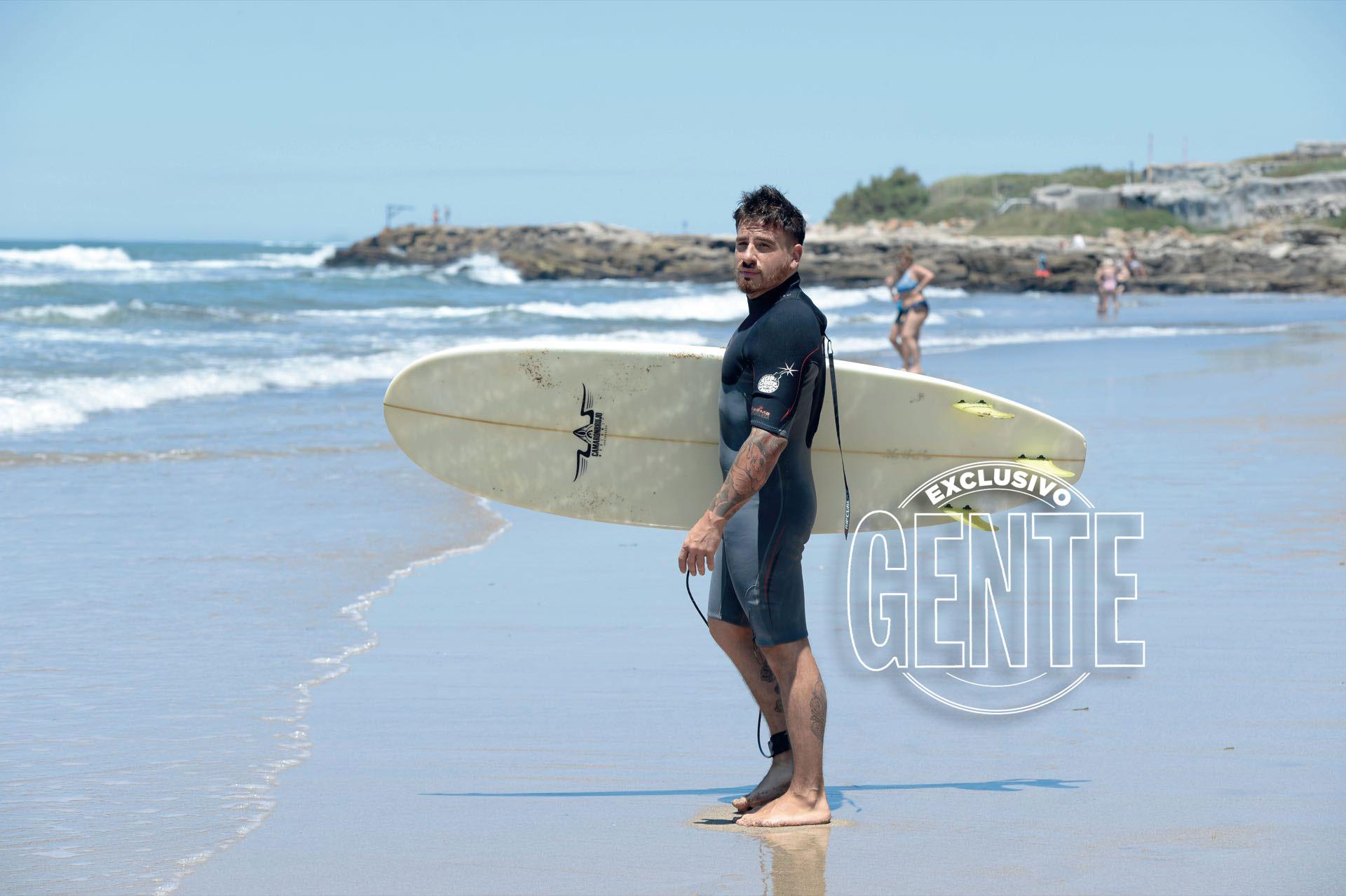 Fede Ballisto encarar un día de playa en Mar del Plata(Fotos: Diego García/GENTE)