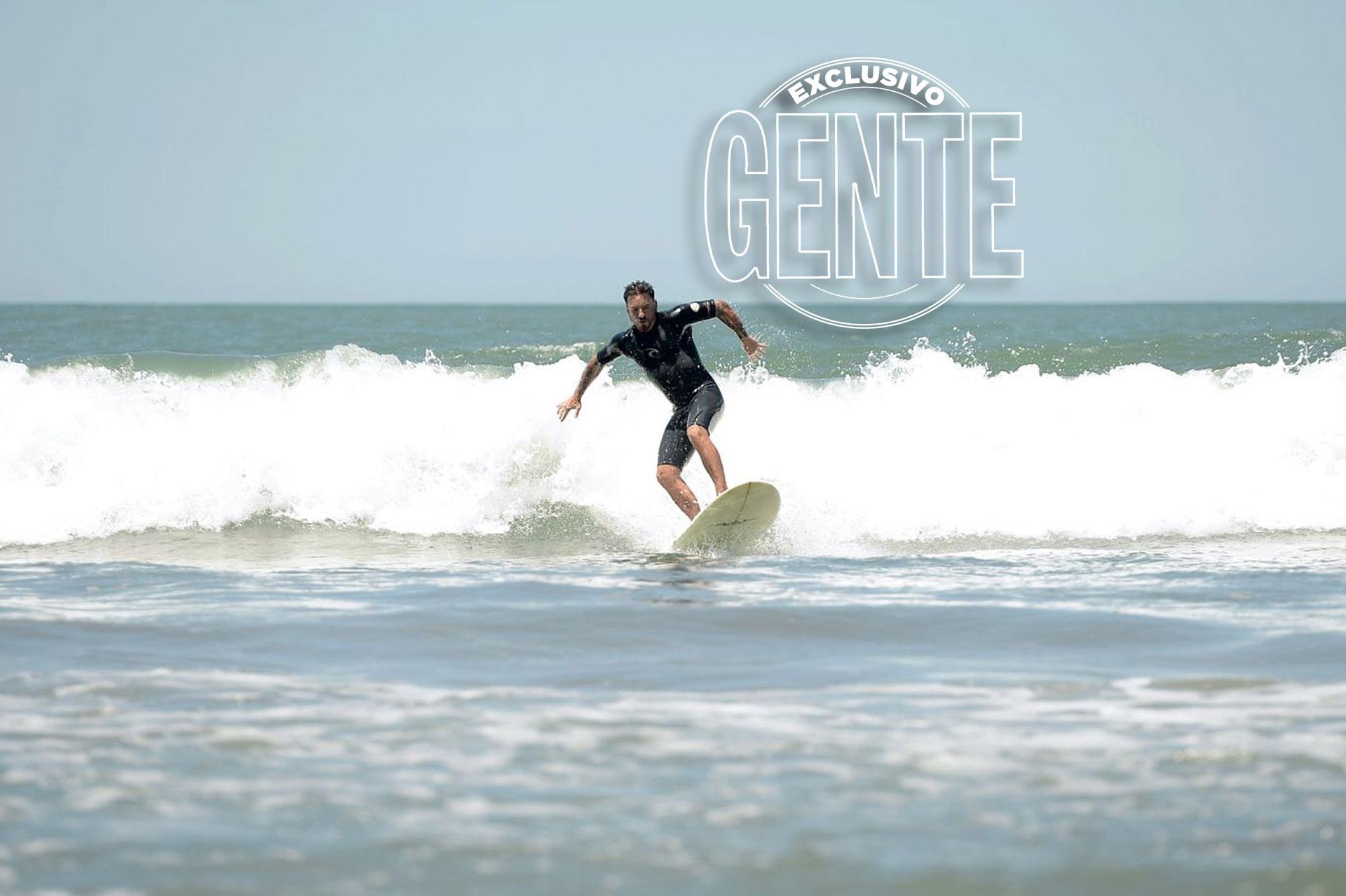 Fede Bal en la playa de Mar del Plata (Fotos: Diego García/GENTE)
