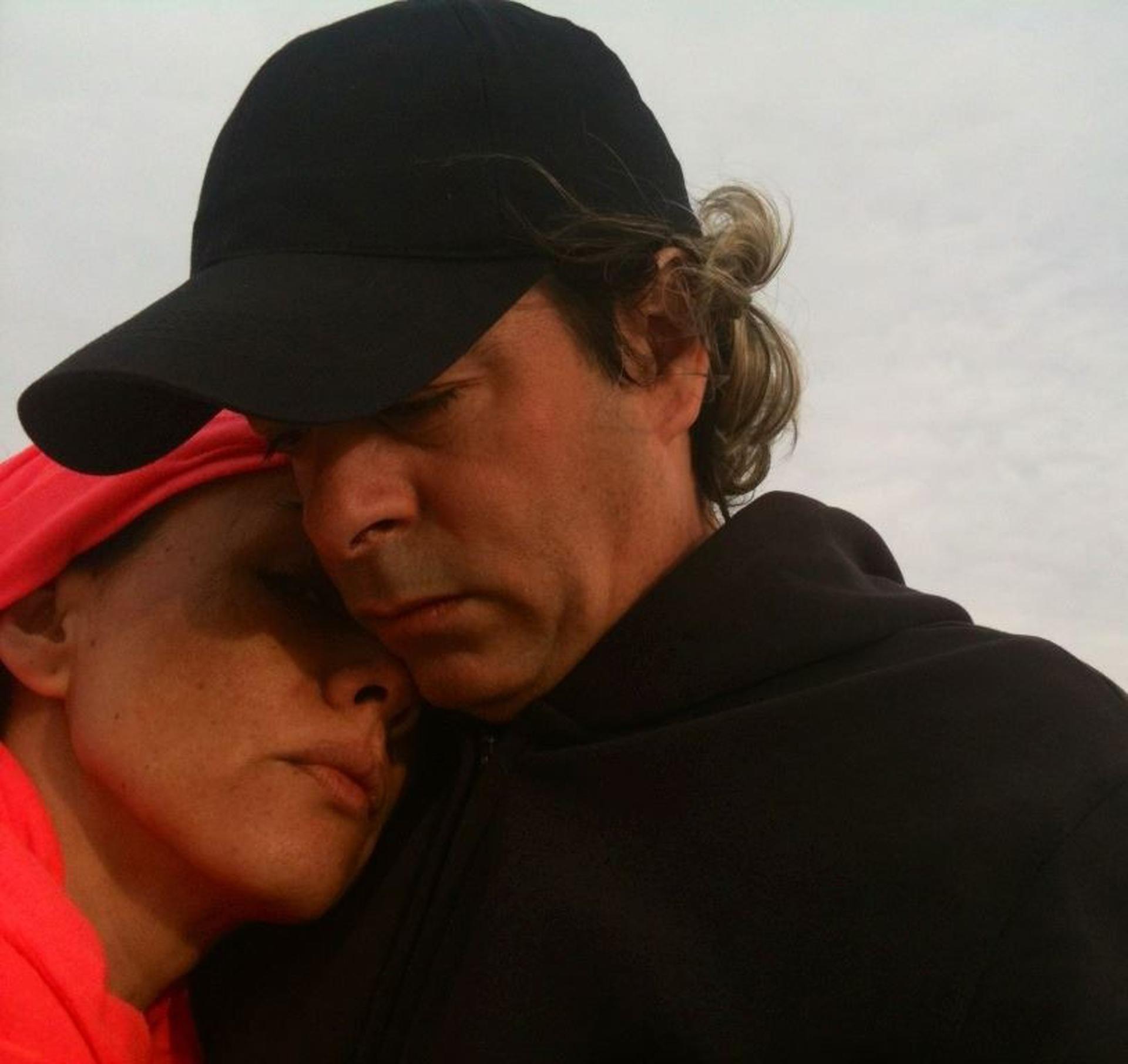Junto a Sergio Dima, su pareja, quien falleció en julio de 2016