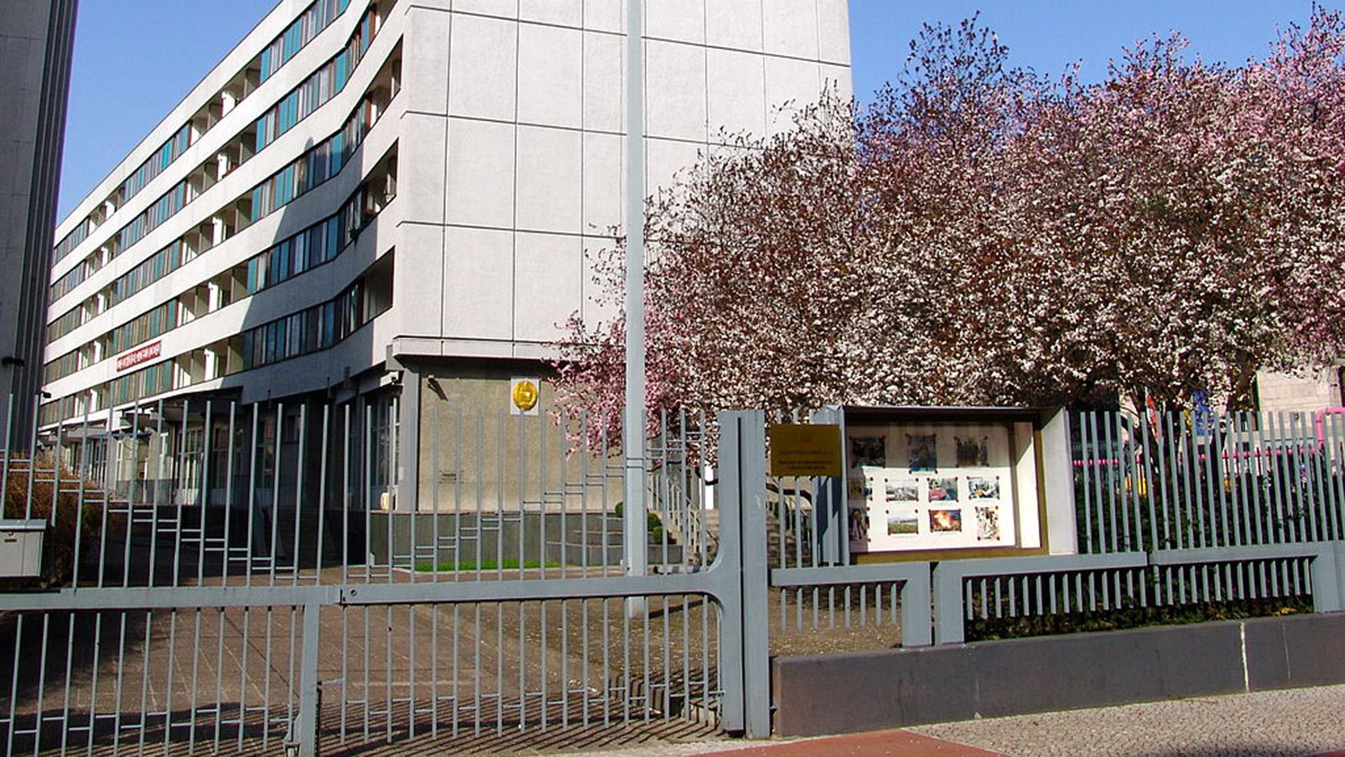 La embajada de Corea del Norte en Berlín (Wikipedia)