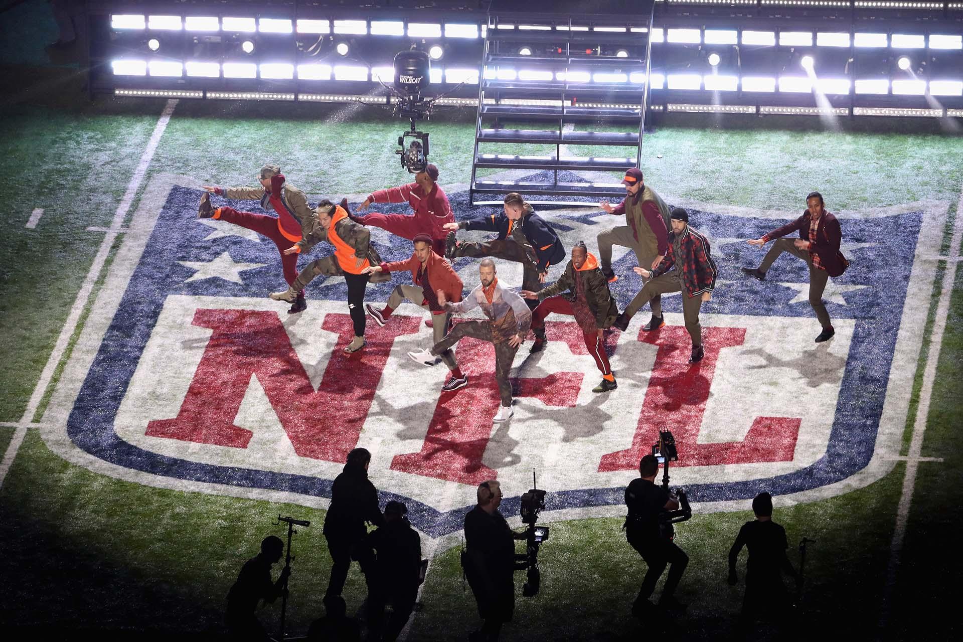 Justin Timberlake se lució en el Super Bowl LII (AFP)