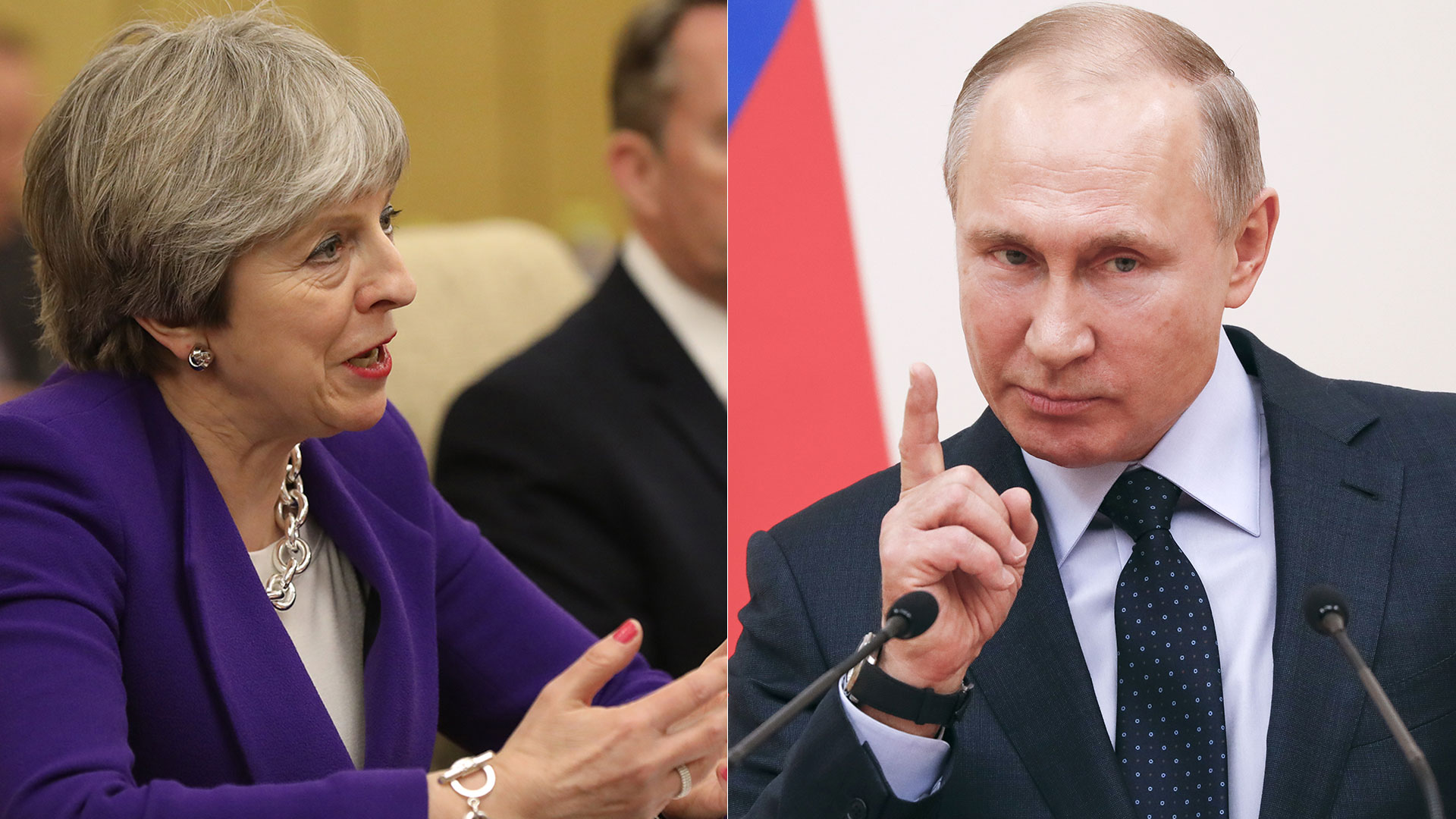 Theresa May y Vladimir Putin (Reuters)