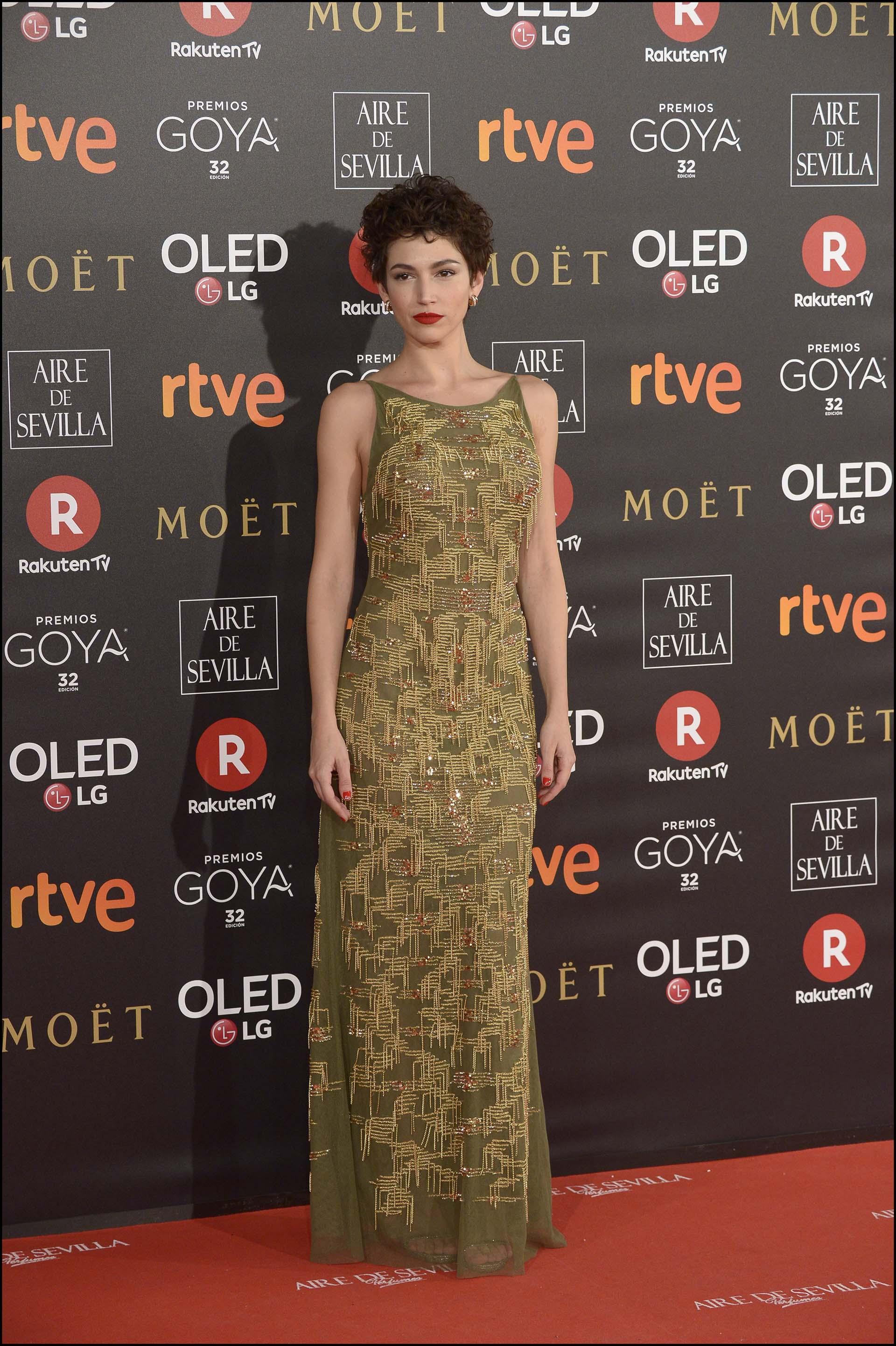 Un vestido borado en microlentejuelas