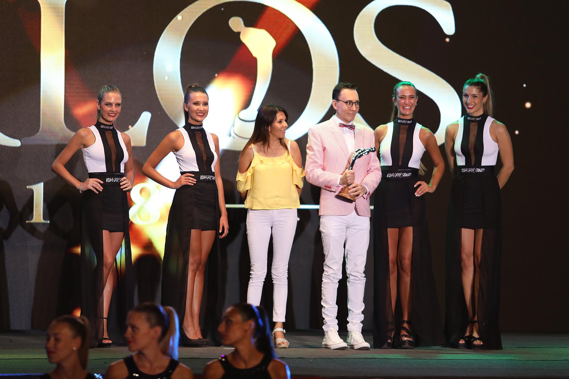 Marcelo Polino recibió la estatuilla a Mejor Figura Masculina Destacada, por su labor en La isla encantada