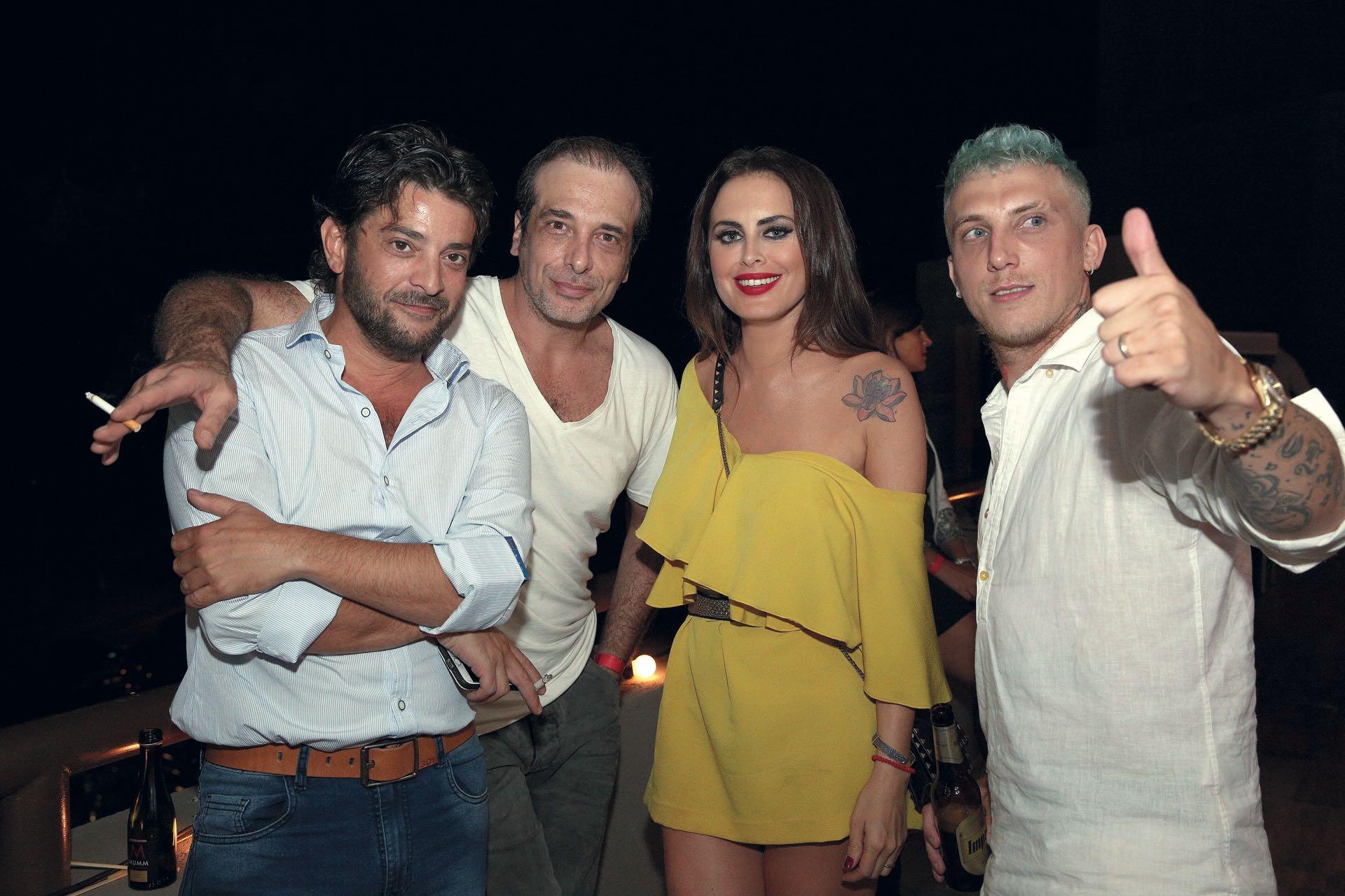 Pablo Rago, Marcelo Cosentino, Silvina Luna y El Polaco. (Foto GENTE)