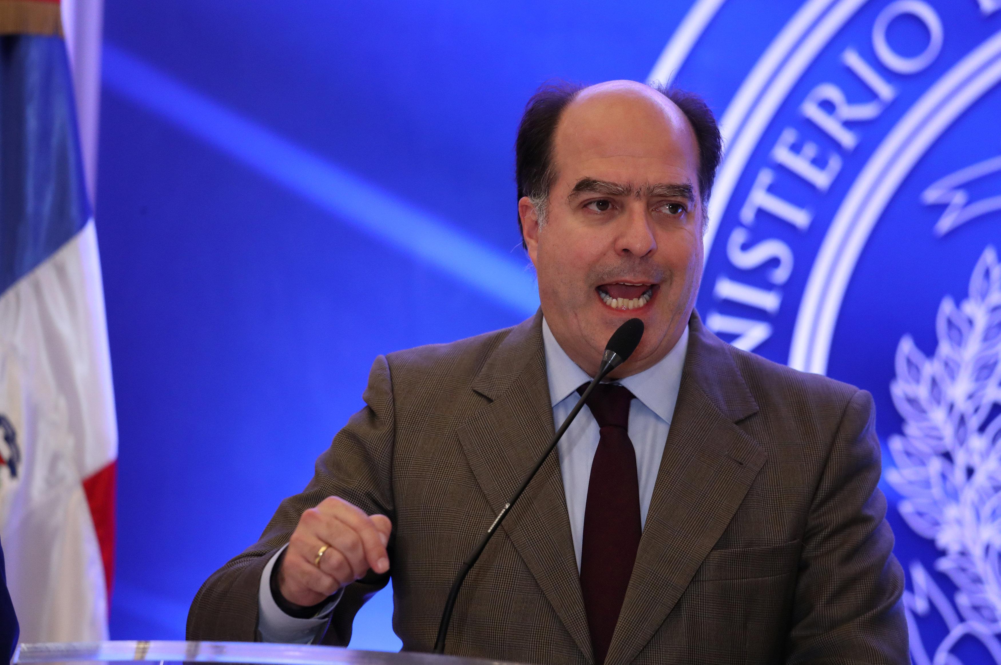 Julio Borges, representante opositor en los diálogos de República Dominicana (REUTERS/Ricardo Rojas)