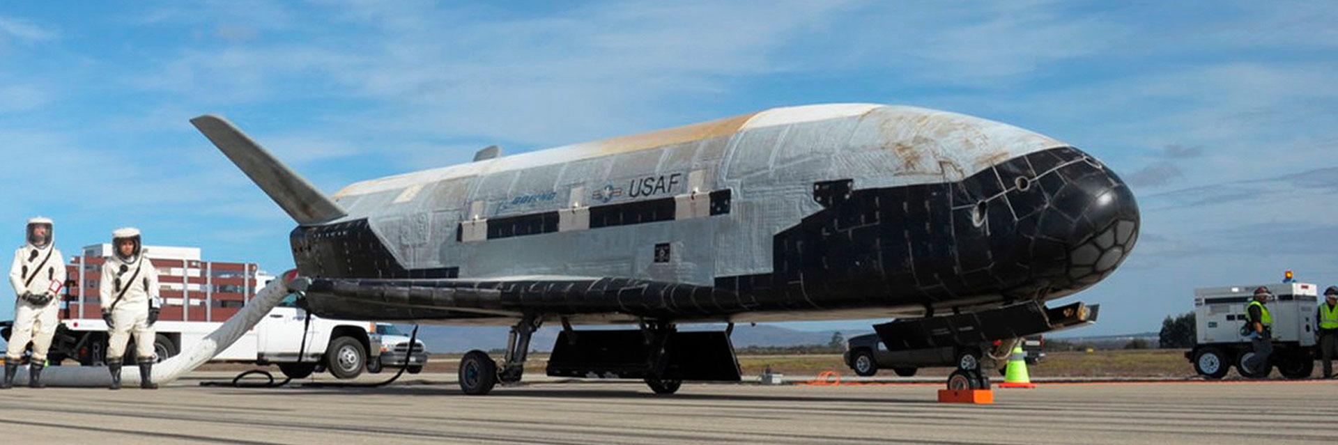 La nave espacial no tripulada X-37B, desarrollada por Boeing (AP)