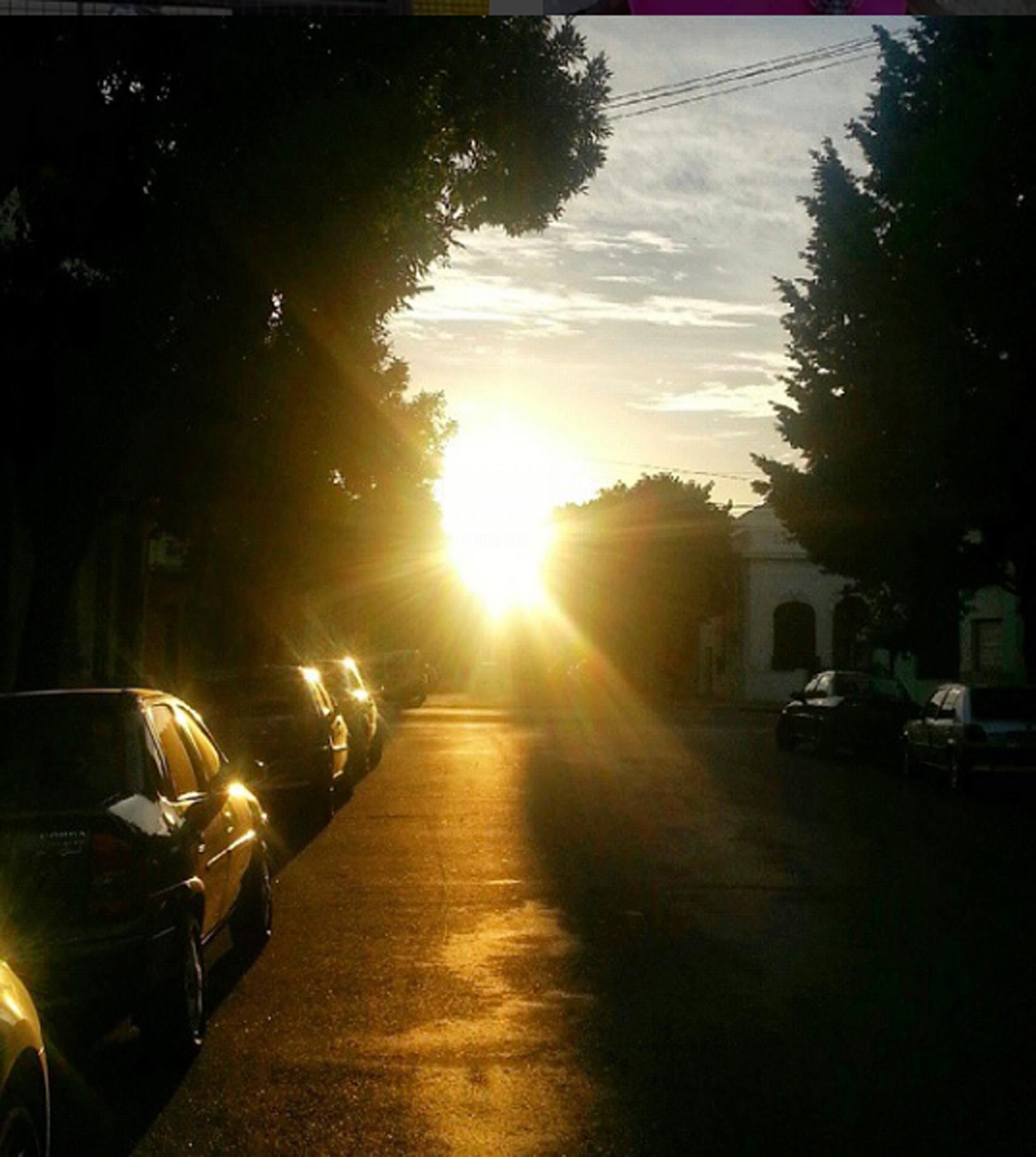 Decubrí este amanecer camino al trabajo. Privilegio
