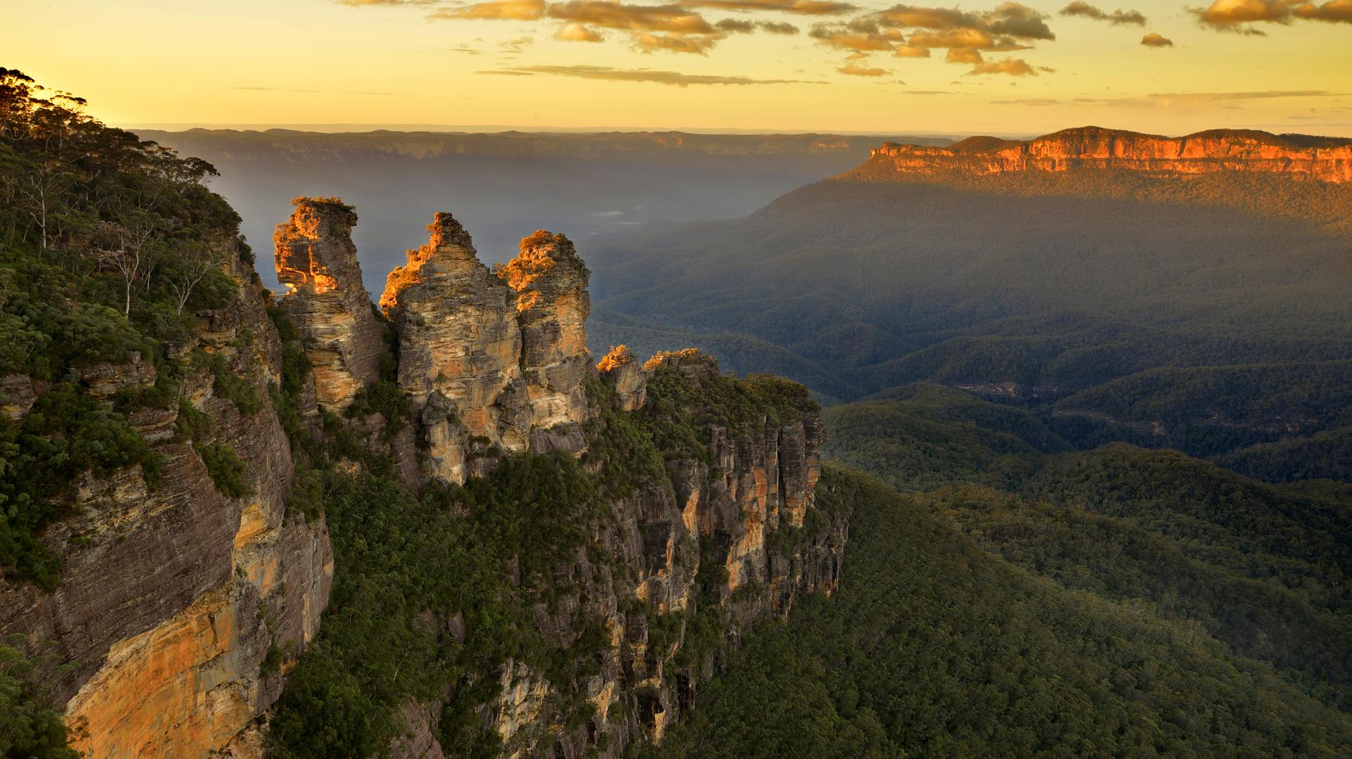 El parque nacional de Blue Mountains se encuentra al oeste de Sídney, en la región de New South Wales (Getty)