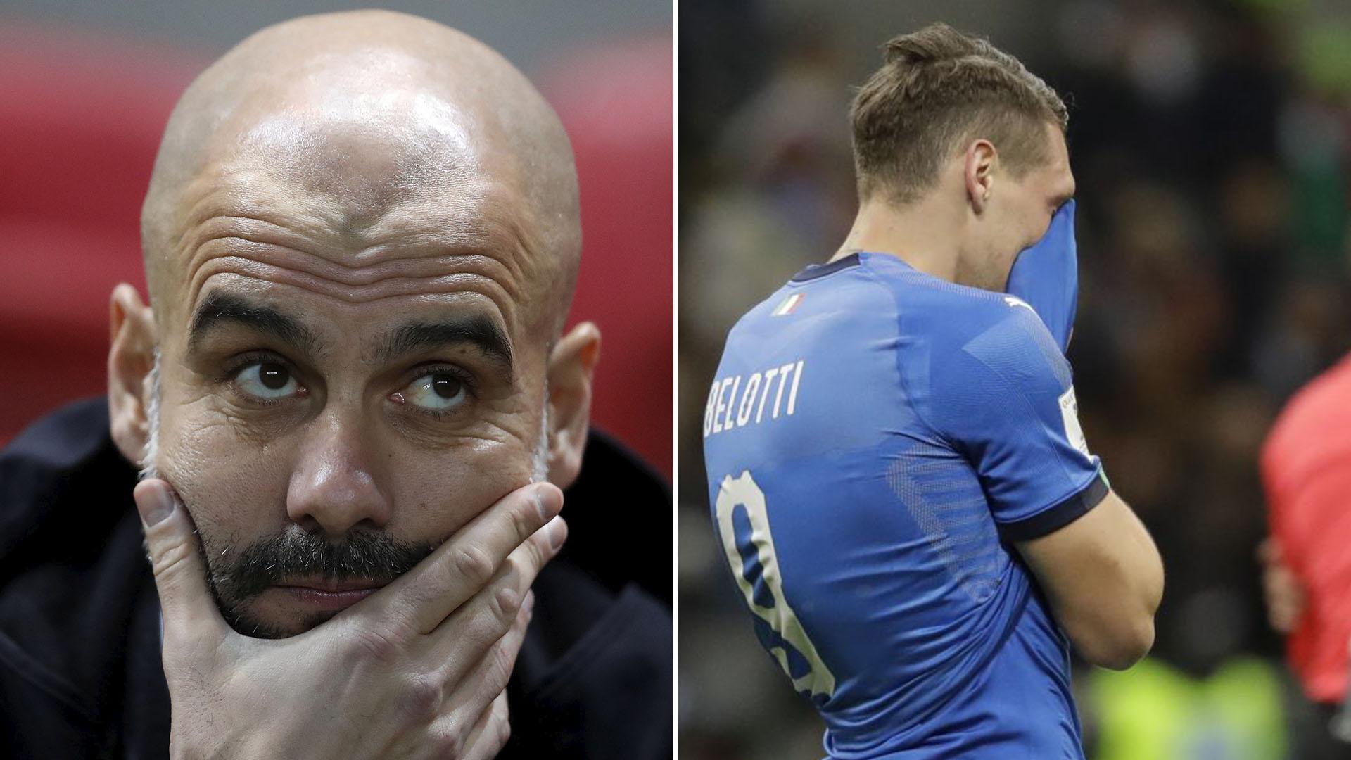 Giorgio Chiellini cree que Pep Guardiola tiene parte de la culpa de que Italia no juegue el Mundial