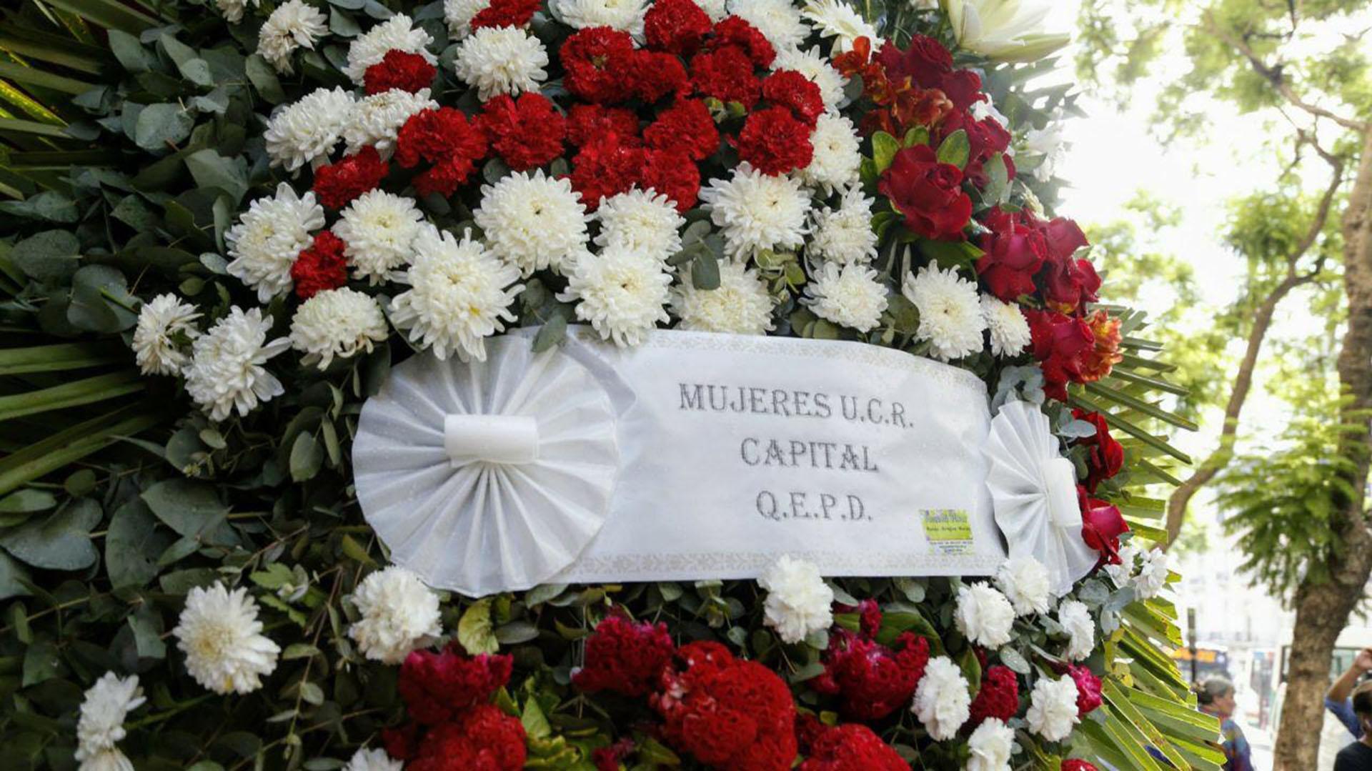 Las mujeres de la Unión Cívica Radical enviaron su homenaje