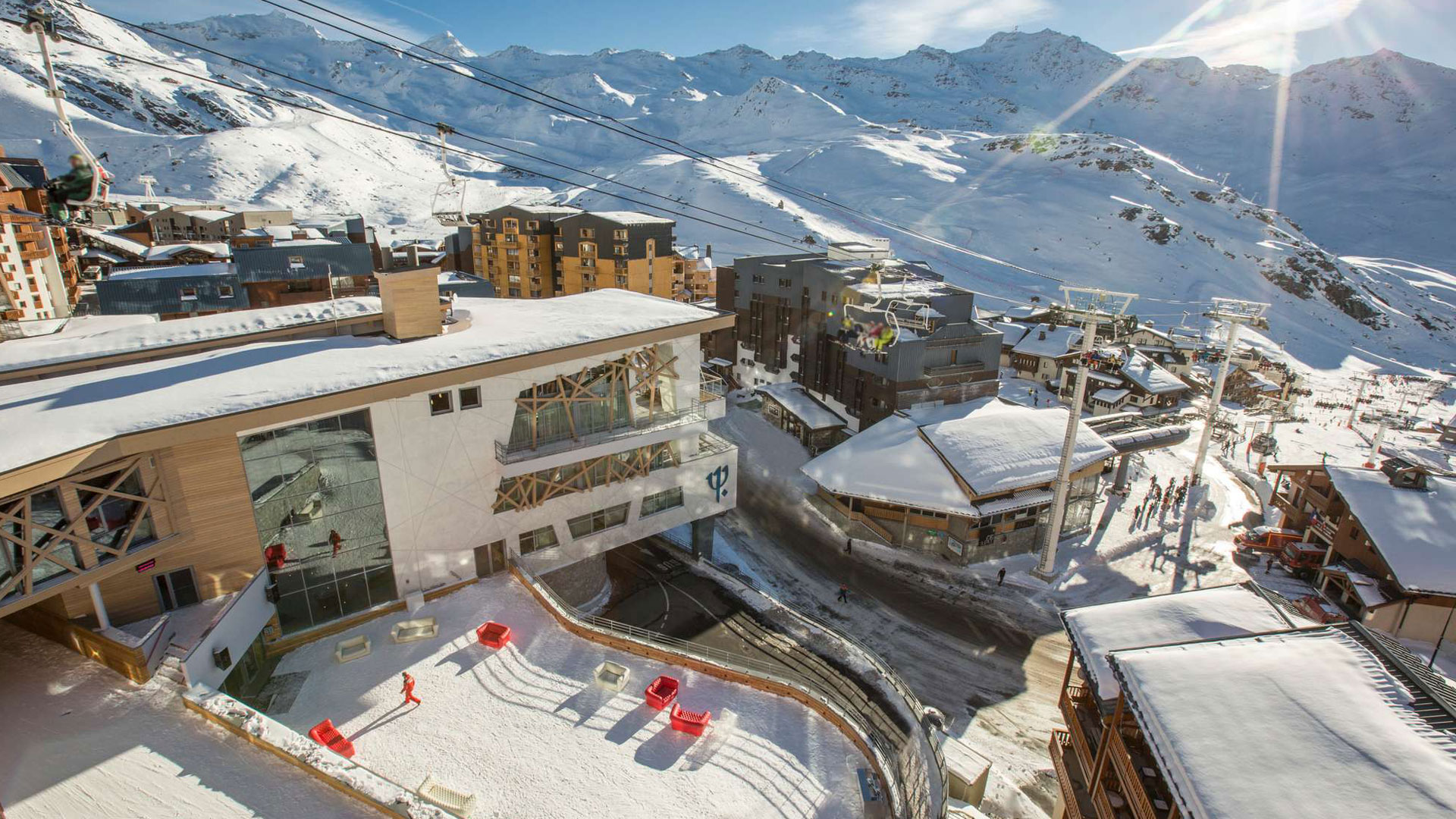 """Vista de Val-Thorens Sensations, un """"all inclusive"""" de la nieve."""