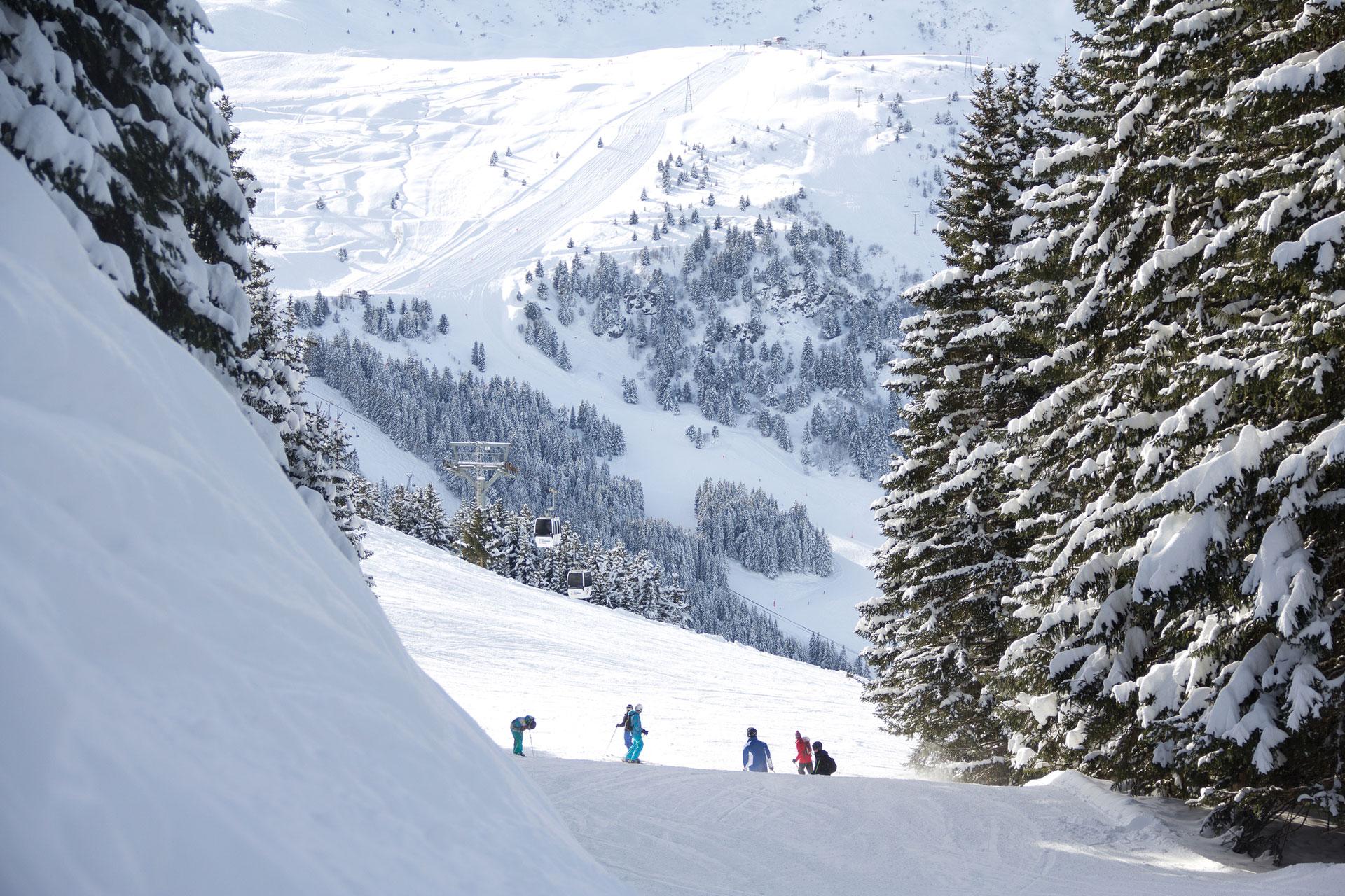 El imponente paisaje de Val Thorens, que cuenta con más de 600 km de pistas de primer nivel.