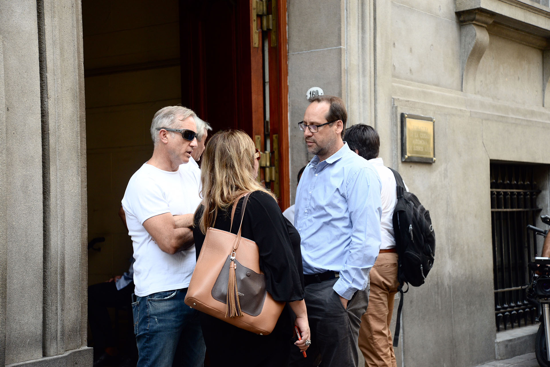 Darío Lopreite, periodista de Todo Noticias, junto a Gonzalo Manrique, productor general de el programa A Dos Voces