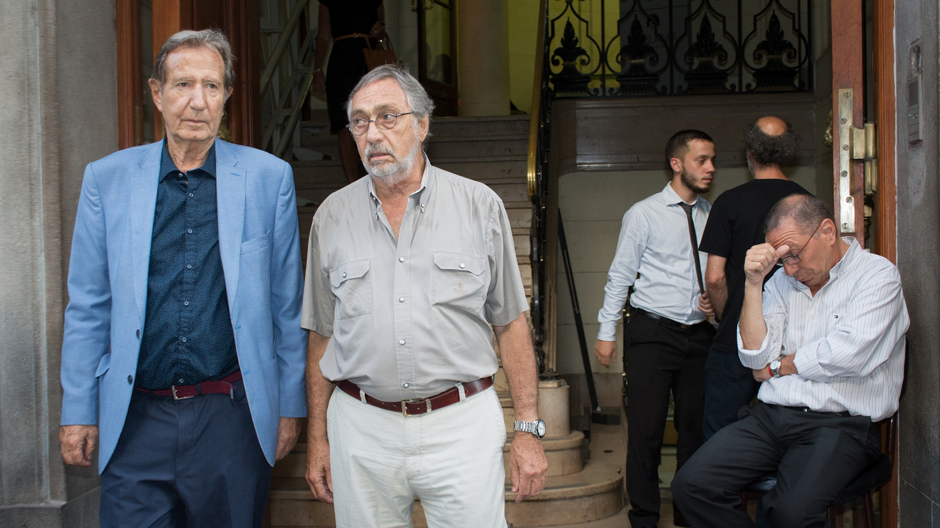 Leandro Despouy y el dirigente de la UCR Luis Brandoni