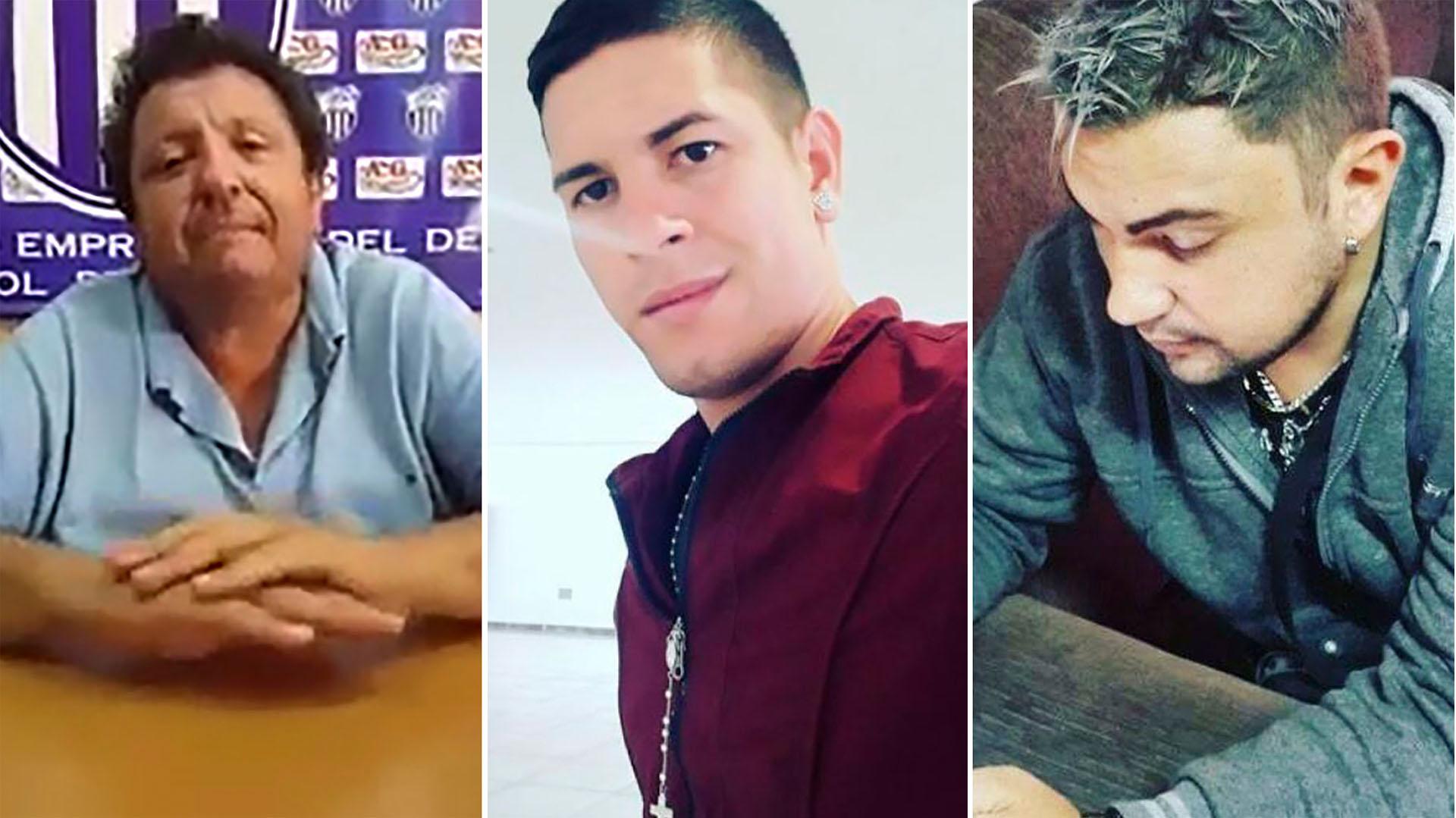 Gonzalez, Gabriel Caballero y Valentín Ozuna, los involucrados en el escándalos sexual