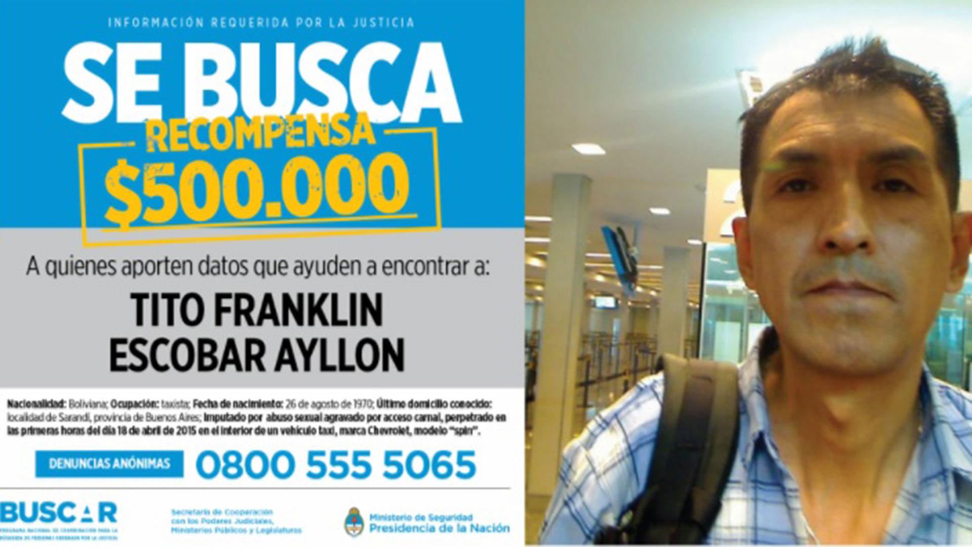Escobar Ayllon está acusado de haber violado y golpeado a una pasajera de 20 años