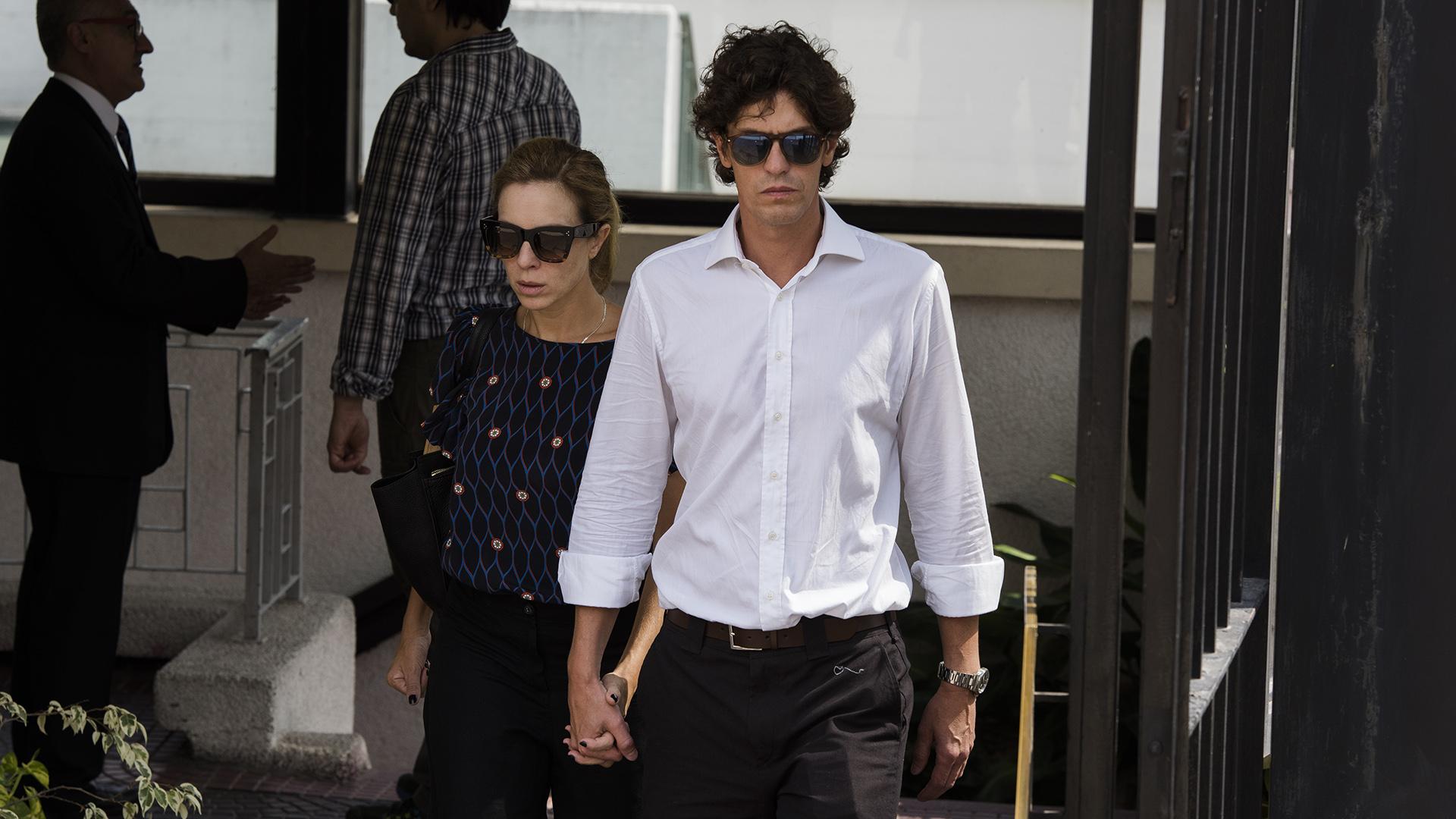 Martín Lousteau y su mujer, Carla Peterson