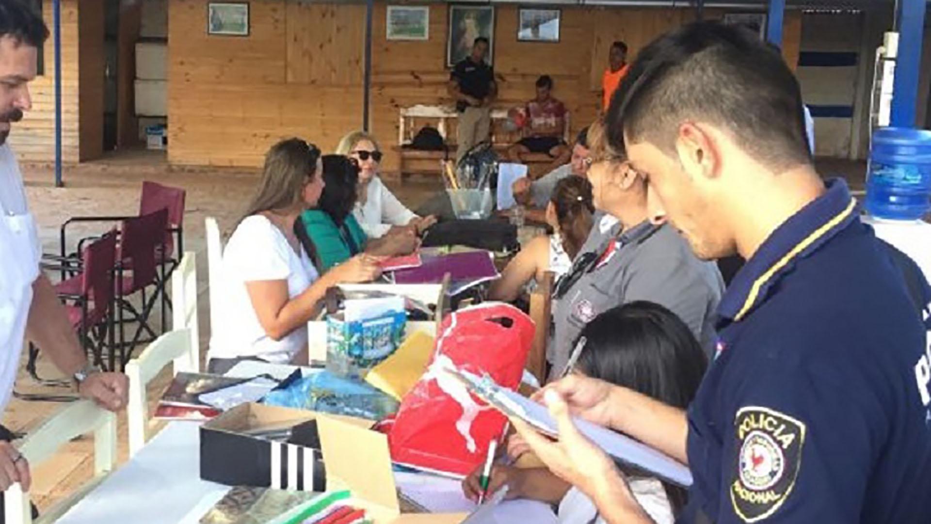 Imágenes del allanamiento en el club Rubio Ñu