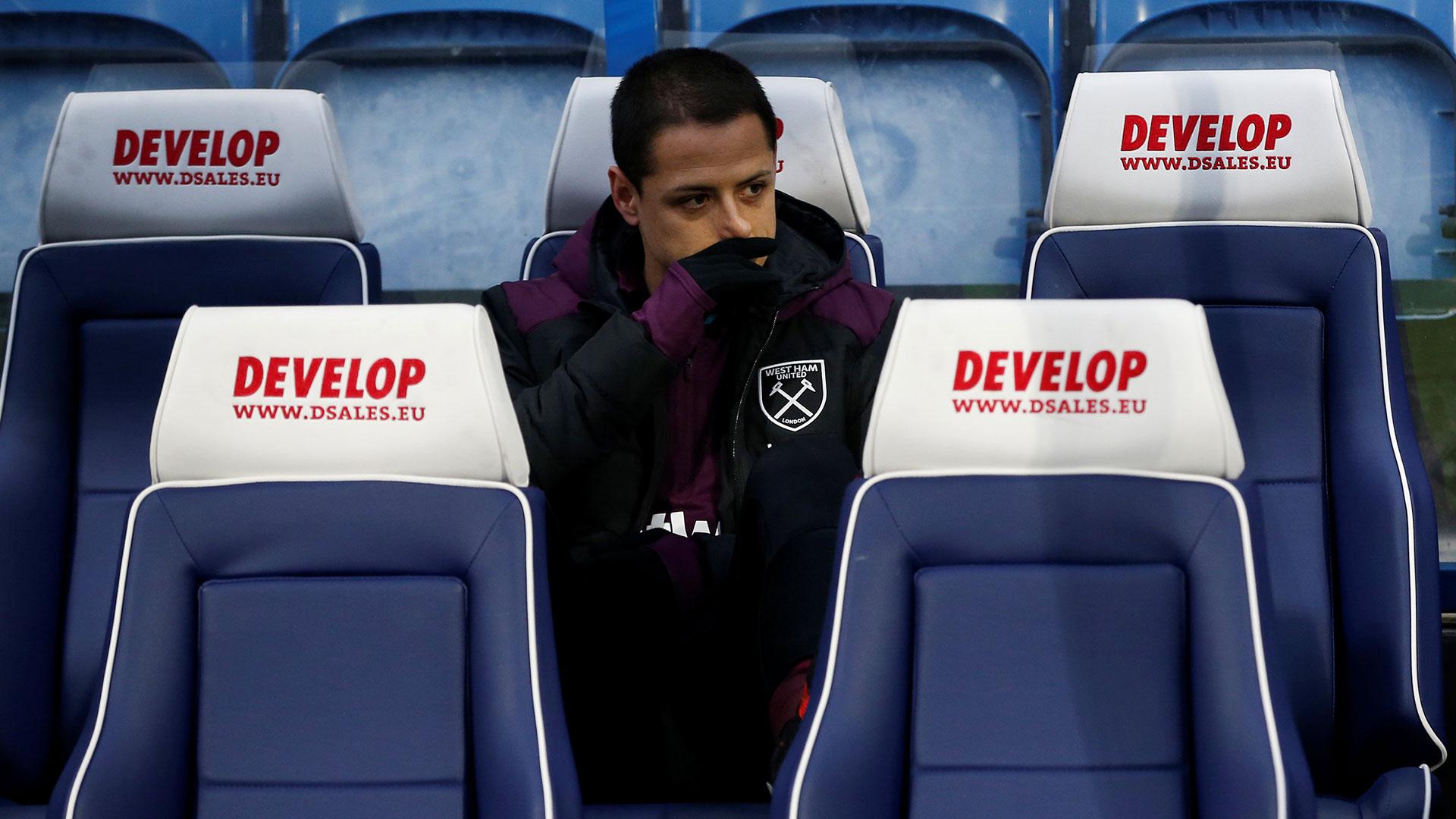 'Chicharito' Hernández cayó de nuevo en la suplencia al fichar por el West Ham (Reuters)