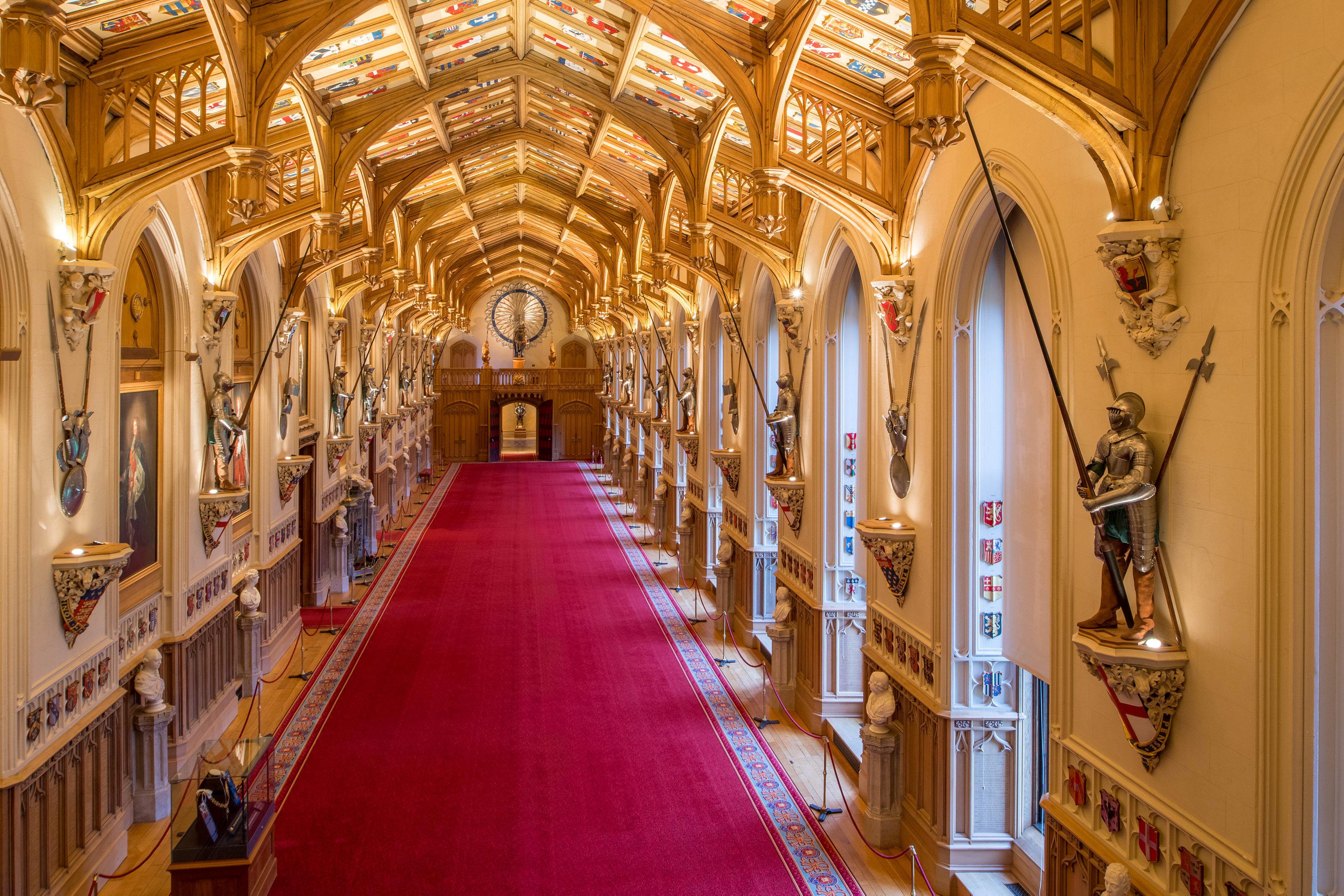 La sala San Jorge del Castillo de Windsor donde el príncipe Harry y Meghan Markle ofrecerán una recepción