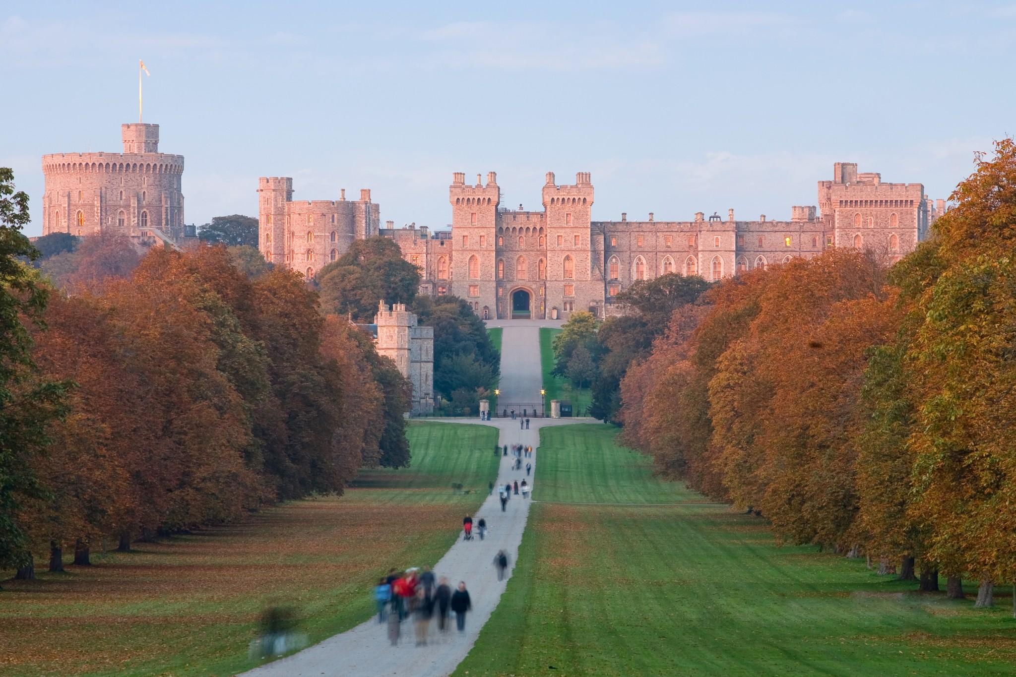 Una vista panorámica del castillo de Windsor