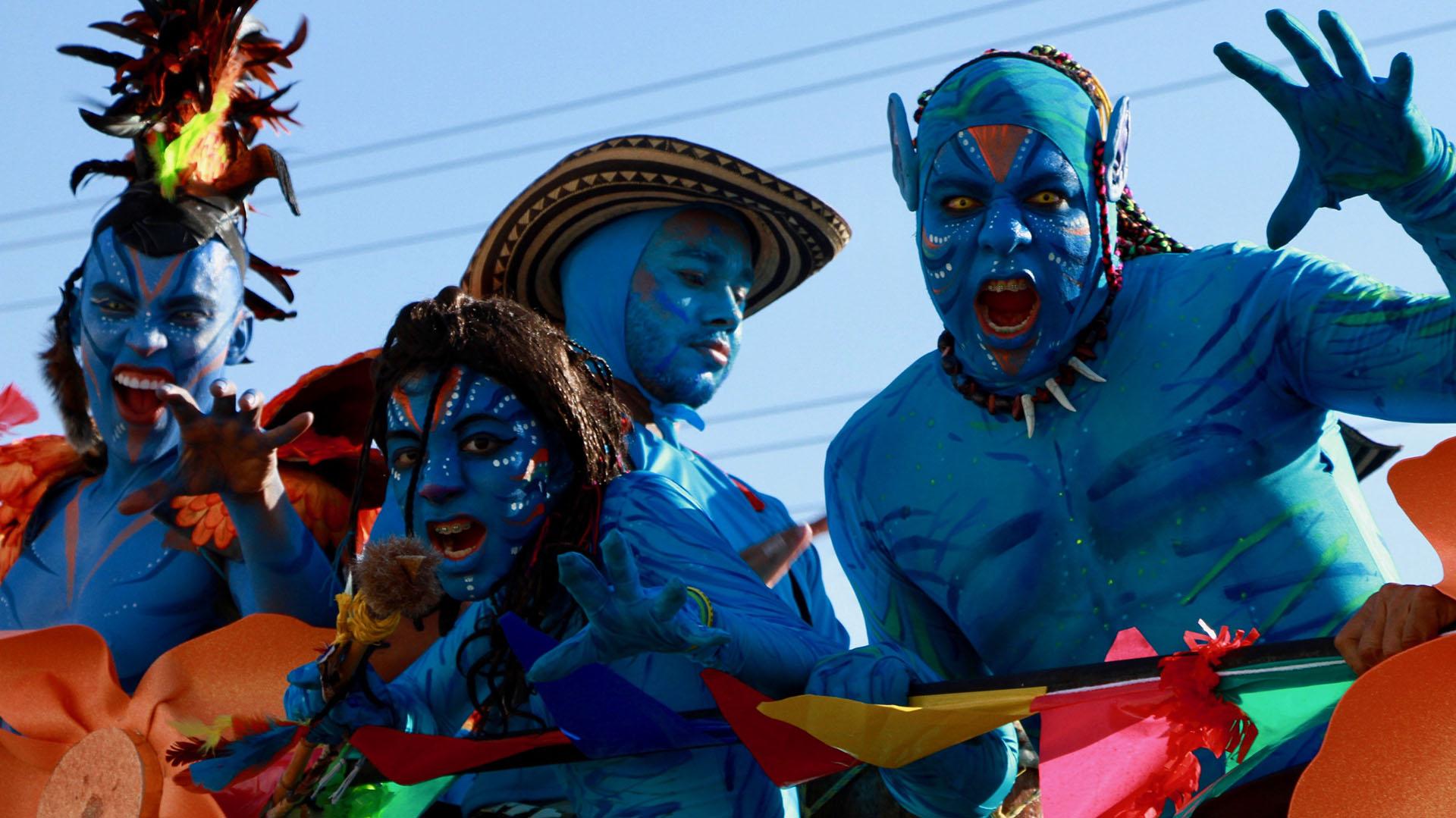 Los personajes de Avatar, de James Cameron, también recorrieron la Vía 40
