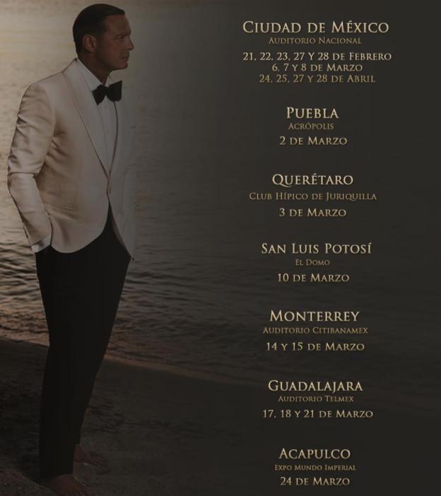 El sol de México dará inicio a su nueva gira en el Auditorio Nacional de Ciudad de México