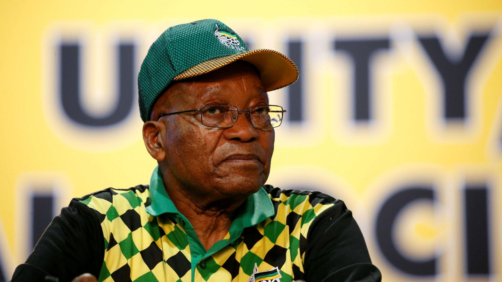 El ahora dimitido presidente sudafricano Jacob Zuma