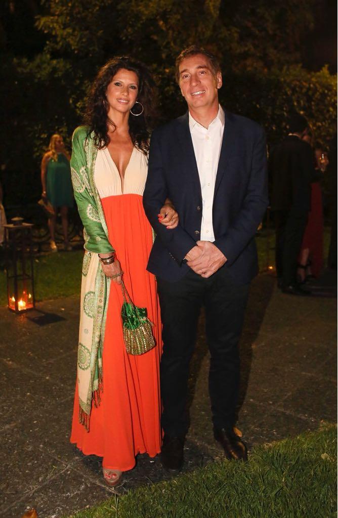 Diego Santilli junto a su esposa, Analía Maiorana