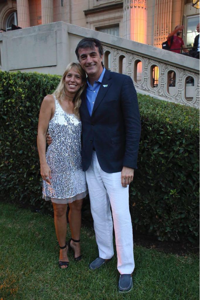 Bullrich y su esposa, María Eugenia Sequeiros