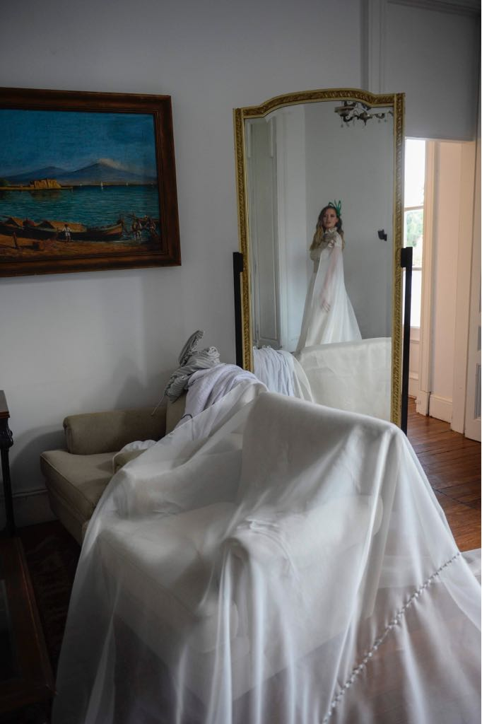 La boda se llevó a cabo en el muy señorial Palacio Sans Souci