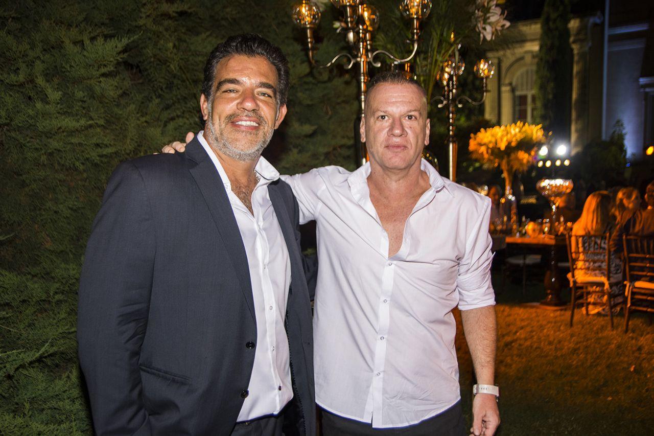 El representante Leandro Rud junto al dueño de editorial Atlántida Luis Castro