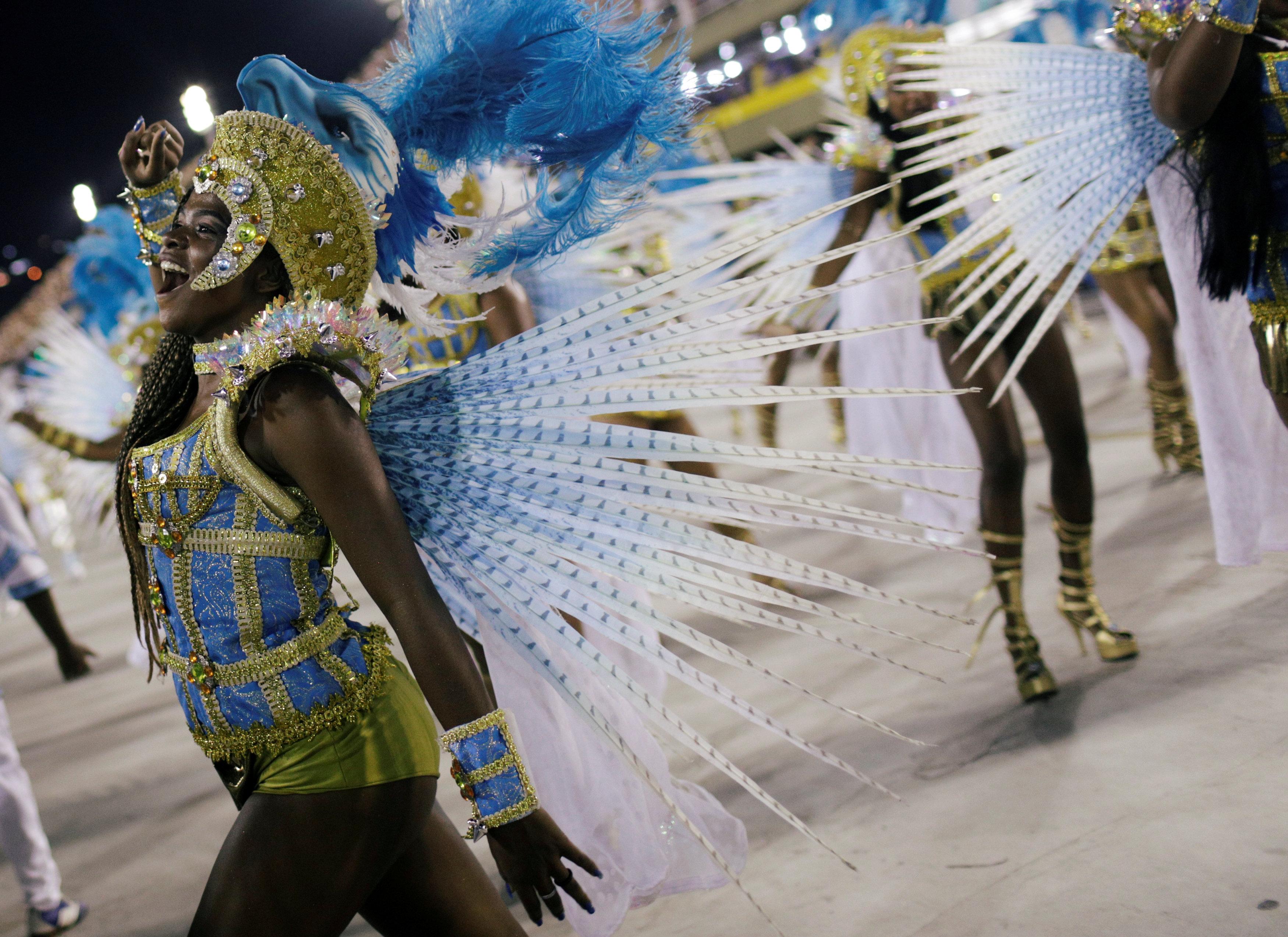 Portela, laescuela de samba campeona del año pasado (REUTERS/Ricardo Moraes)