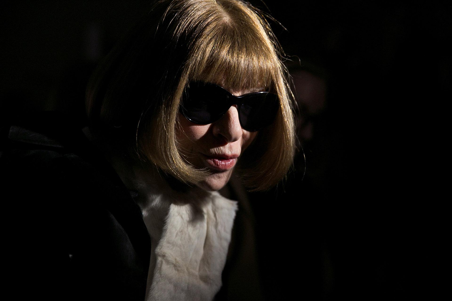 En el MOMA, en la gran despedida de Carolina Herrera, en su desfile de despedida.