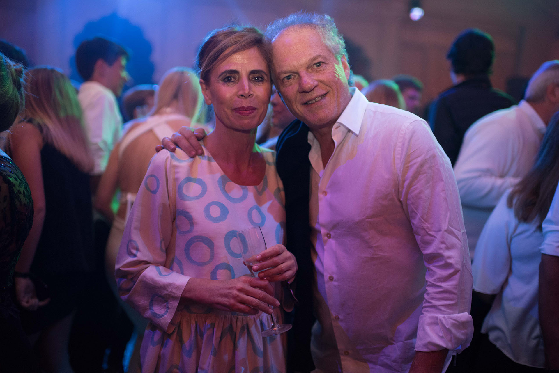 La diseñadora Ágatha Ruíz de la Prada junto al empresario Daniel Sielecki