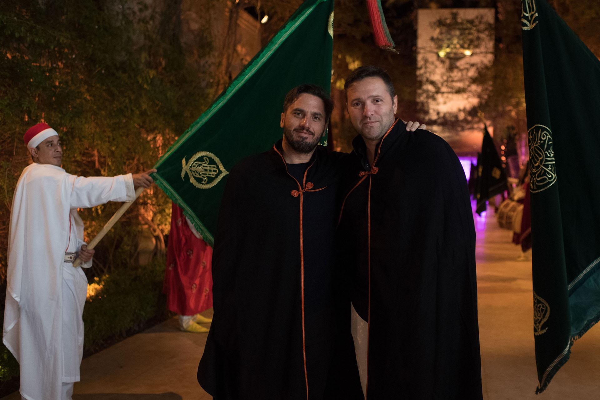 "Agustín Pichot durante la fiesta oriental ""Black and White"" en el hotel Palais Namaskar"