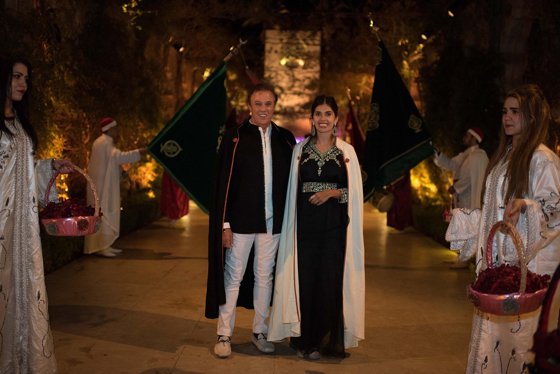 El hermano de Alejandro Roemmers y su mujer