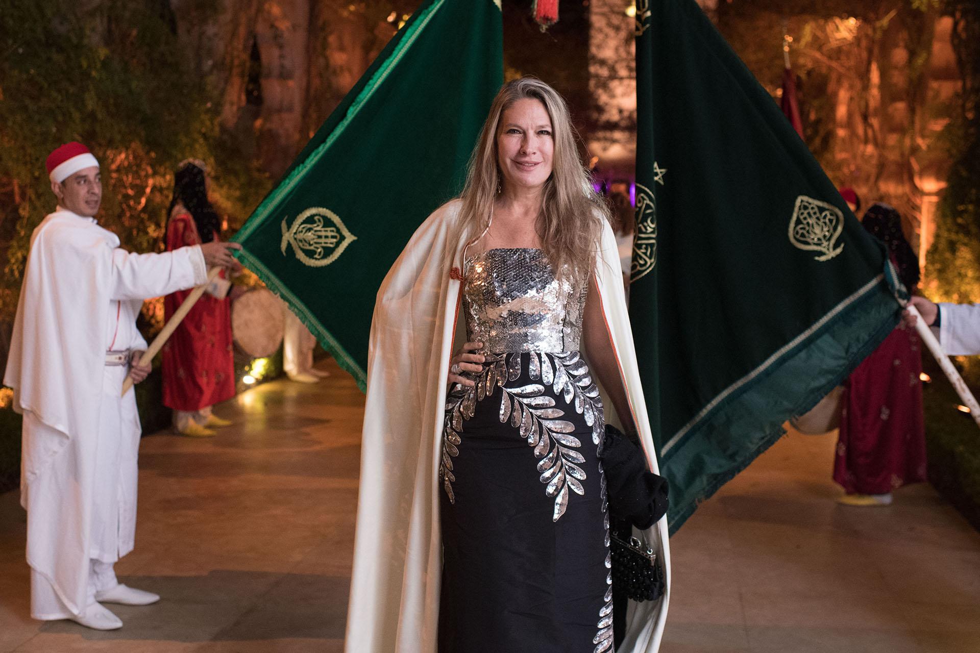 La empresaria Ana Rusconi, viuda de Luis Rusconi y madre de Juan Rusconi, fue otra de las invitadas de lujo en la Oriental Party