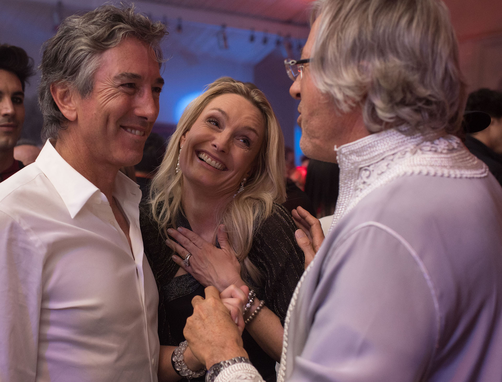 Alejandro Roemmers junto a su hermano Pablo y su mujer Catherine Roemmers