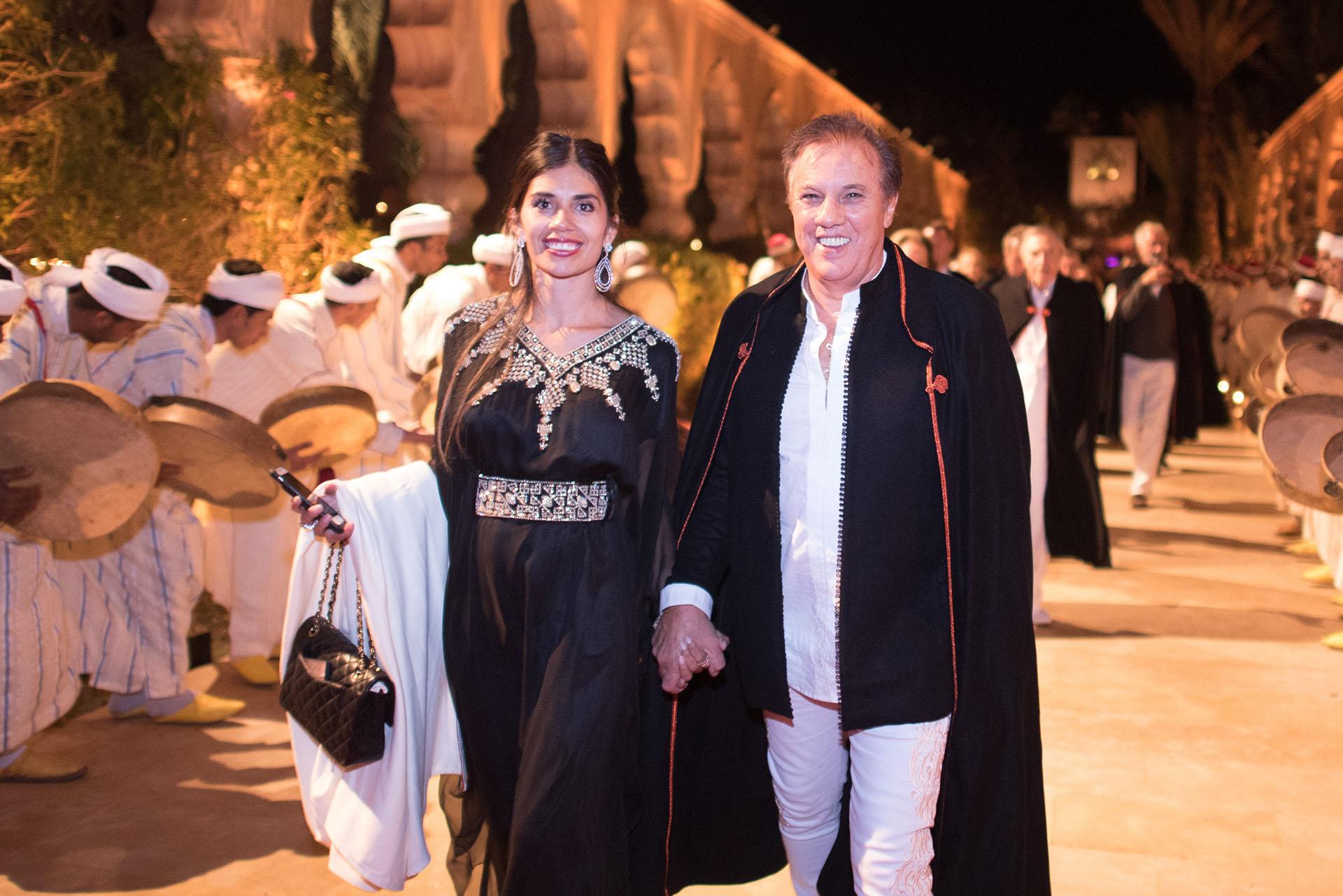 El hermano mayor de Alejandro Roemmers con su mujer