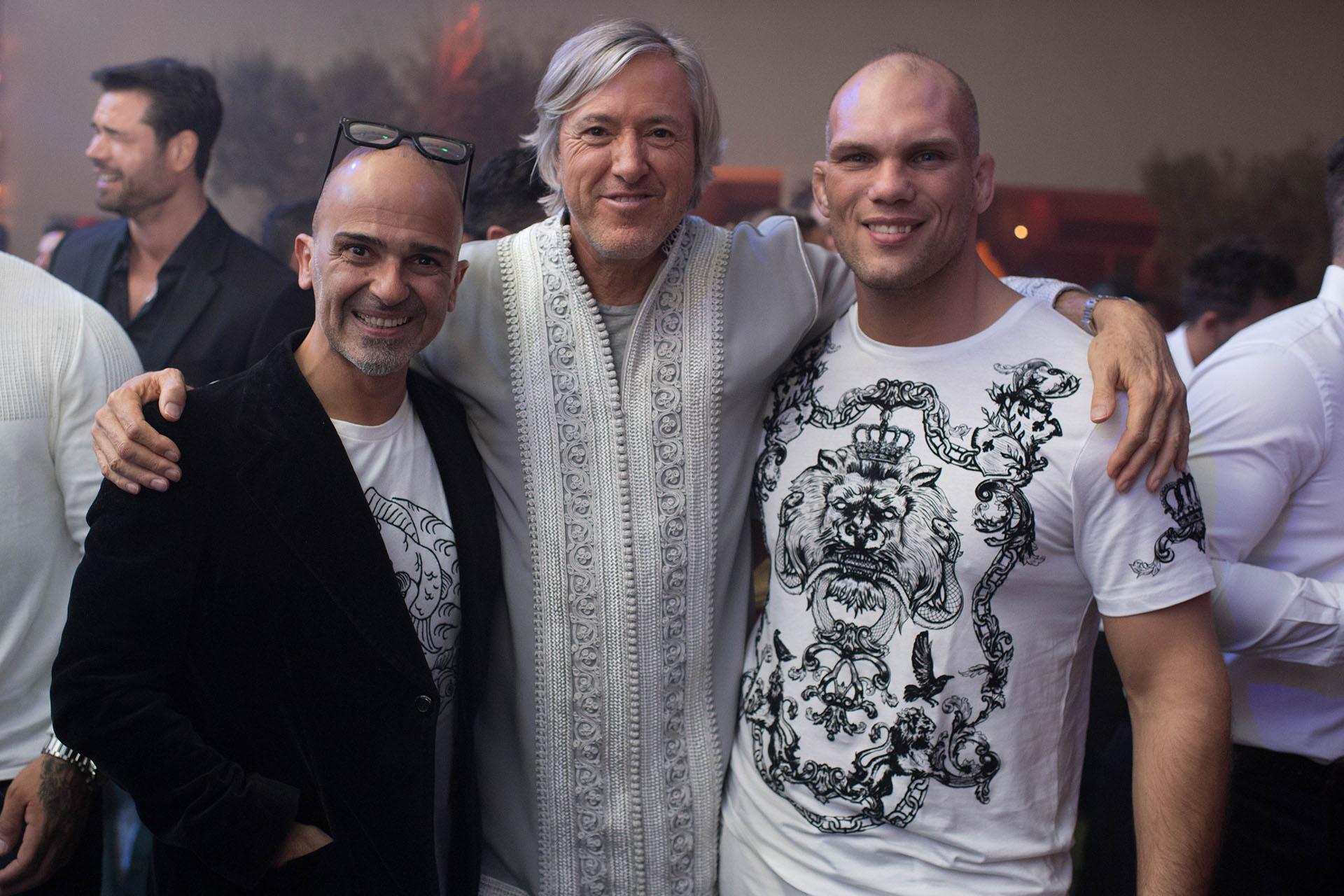 Alejandro Rommers junto al ambientador Martin Roig que fue colaborador en la decoración de la fiesta oriental