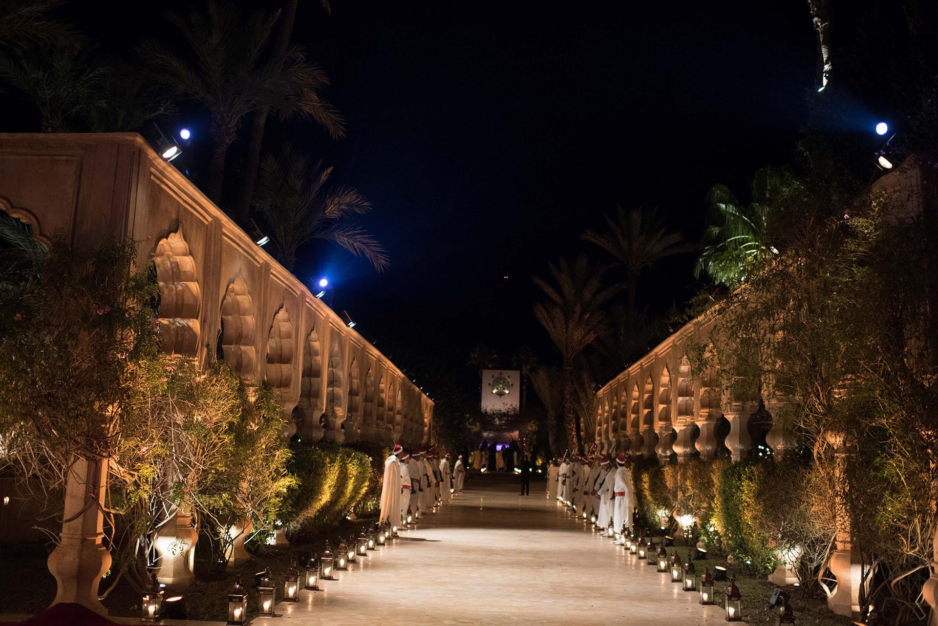 El hotel Palais Namaskar fue el escenario perfecto para la primera fiesta con temática oriental