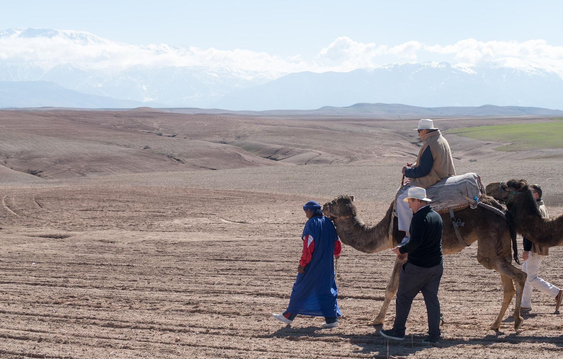 Alberto W. H. Roemmers, padre de Alejandro e hijo del fundador del laboratorio que lleva su nombre, recorrió el desierto montado en un camello