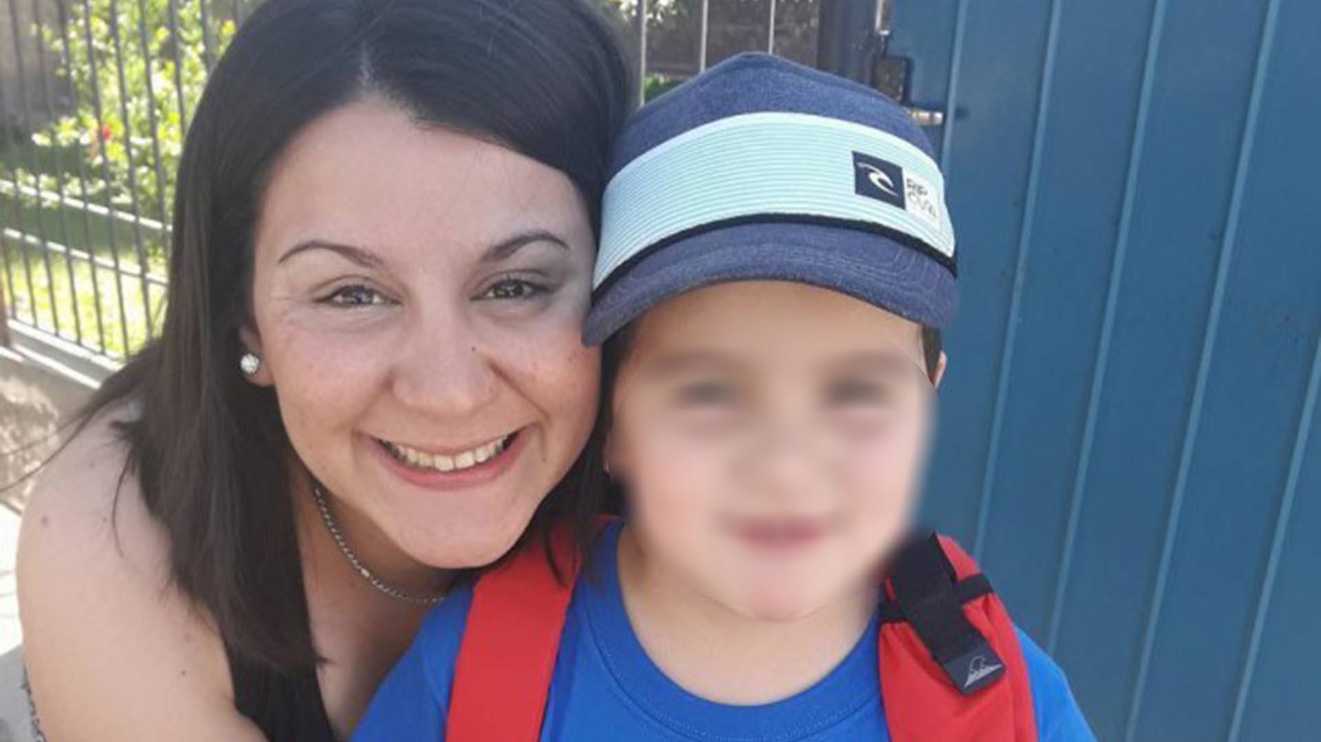 Mayra y su pequeño hijo. Ambos fueron asesinados.